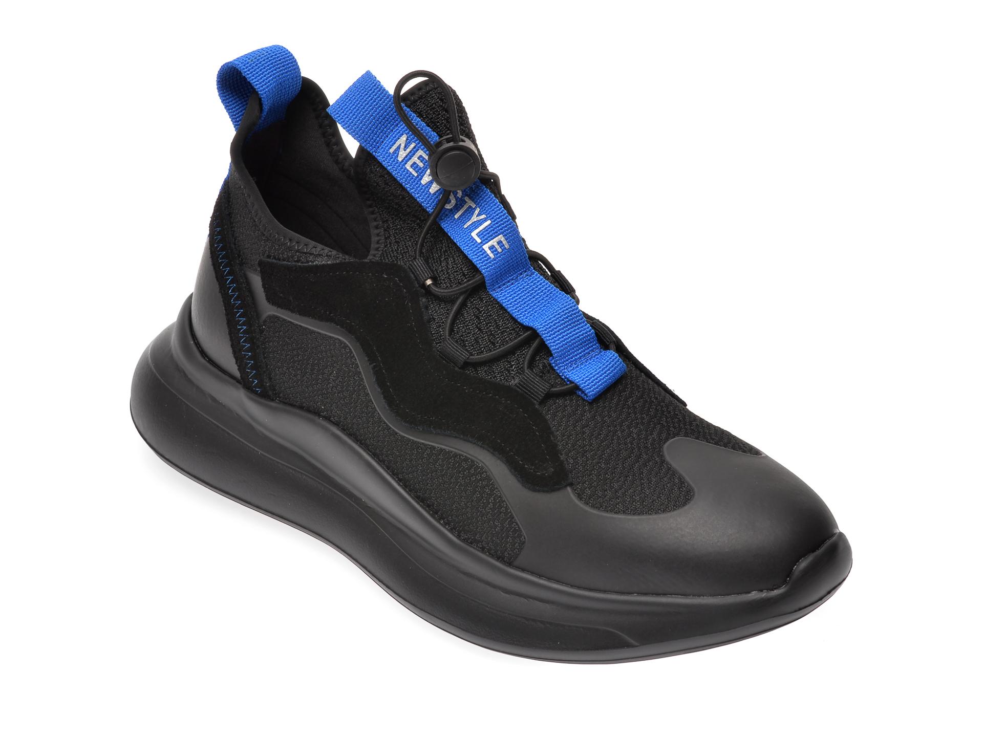 Pantofi sport BITE THE BULLET negri, G9023, din material textil si piele naturala imagine