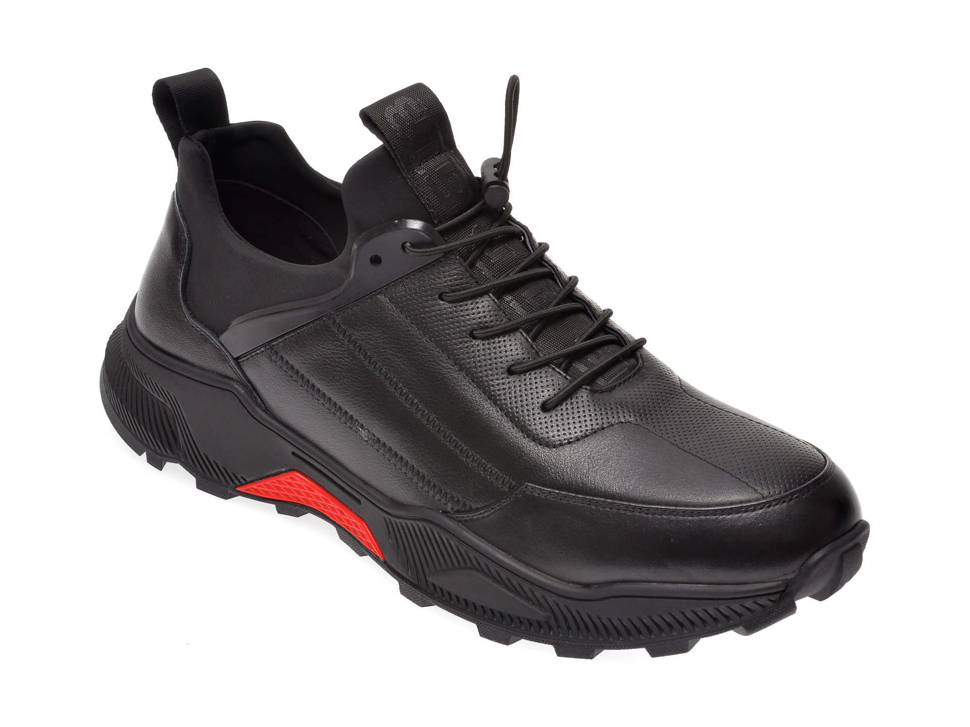Pantofi sport BITE THE BULLET negri, G9612, din piele naturala imagine