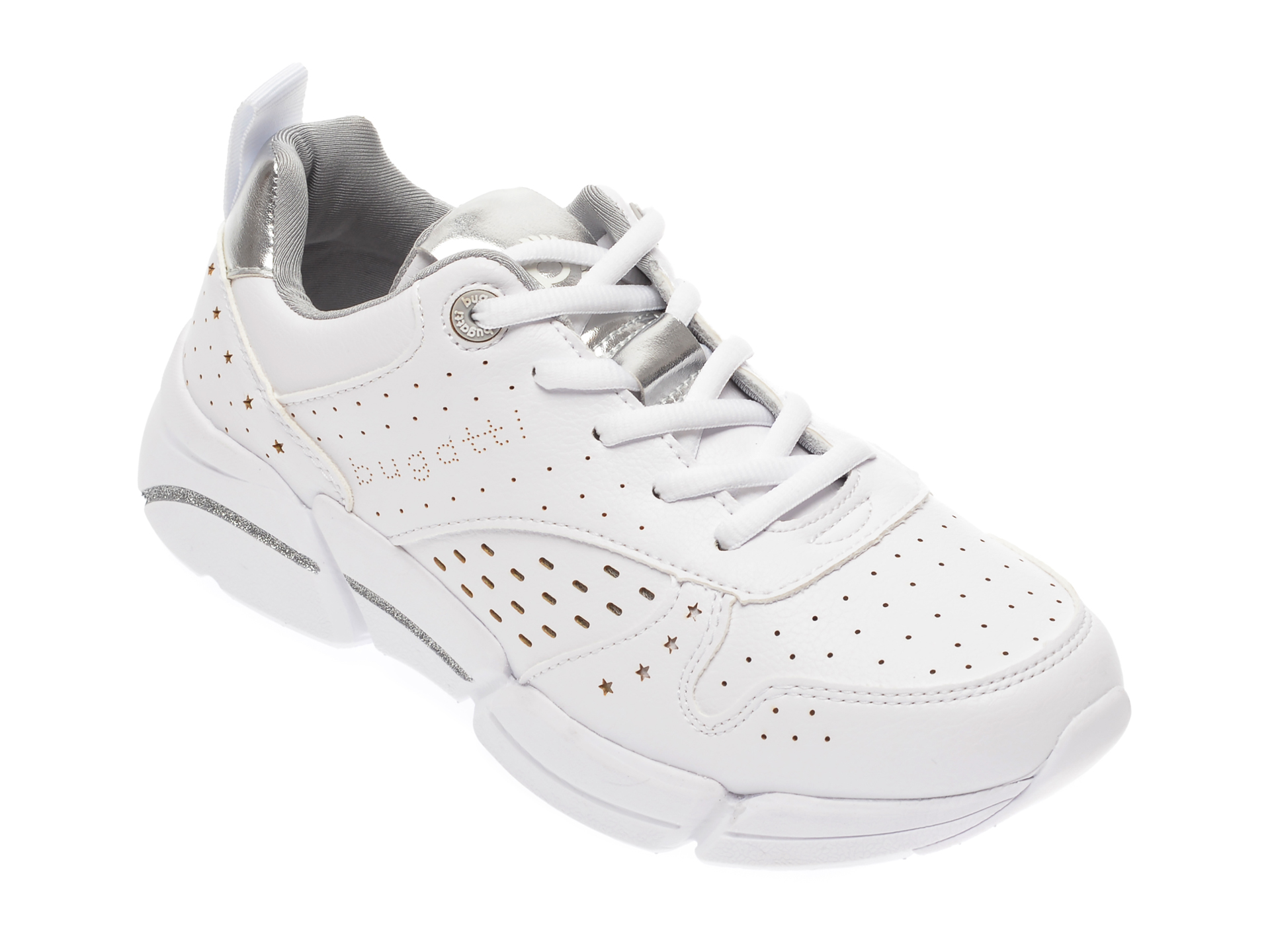 Pantofi sport BUGATTI albi, 66805, din piele ecologica imagine