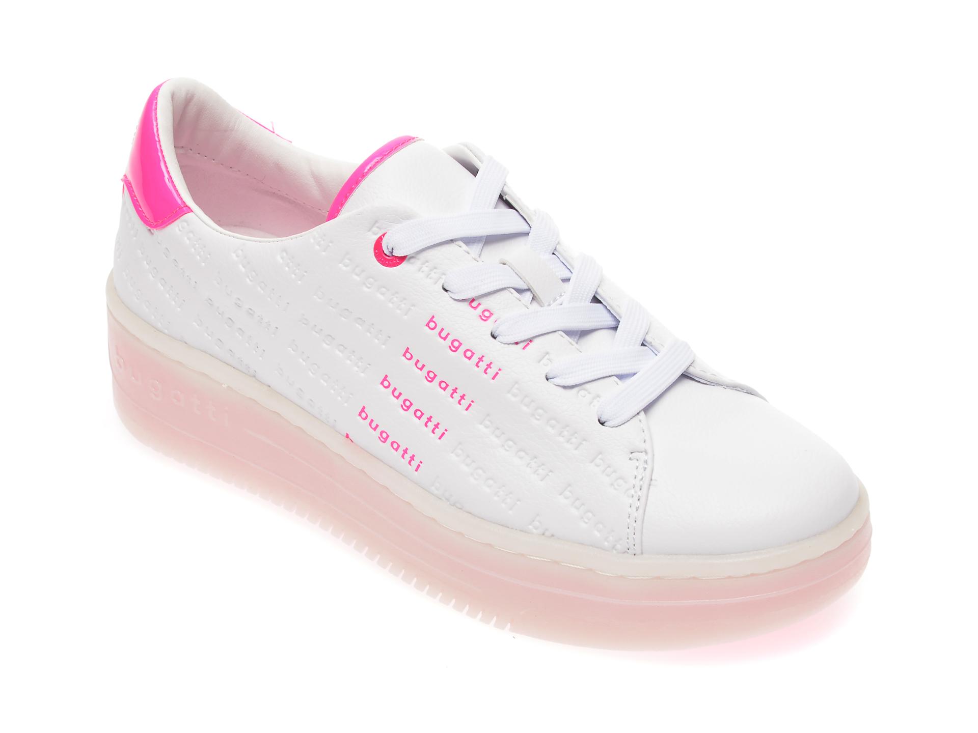 Pantofi sport BUGATTI albi, 86601, din piele ecologica imagine