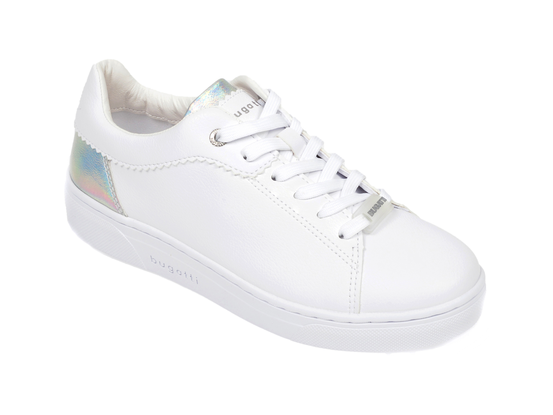 Pantofi sport BUGATTI albi, 87703, din piele ecologica imagine