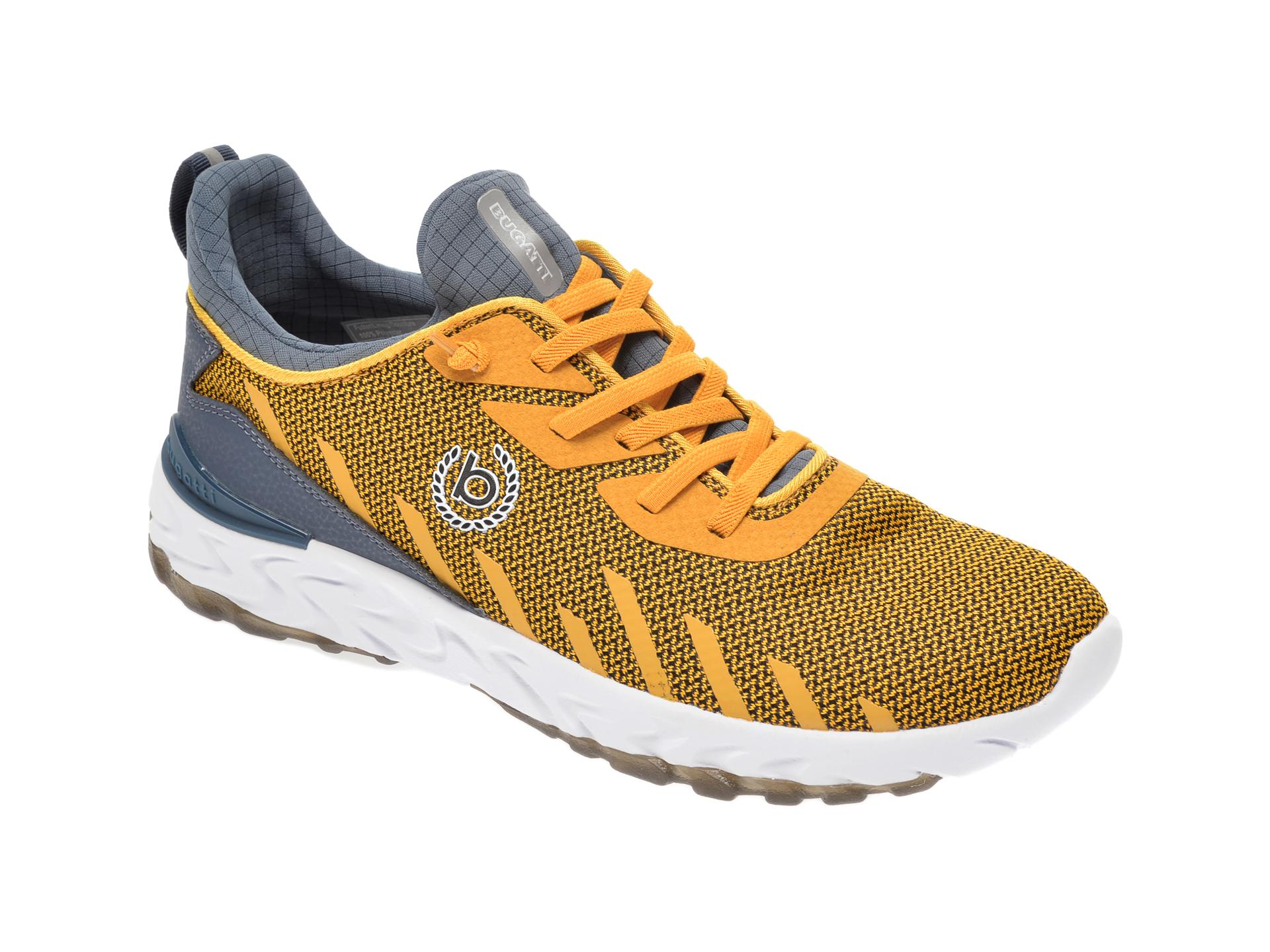 Pantofi sport BUGATTI galbeni, 92860, din material textil imagine