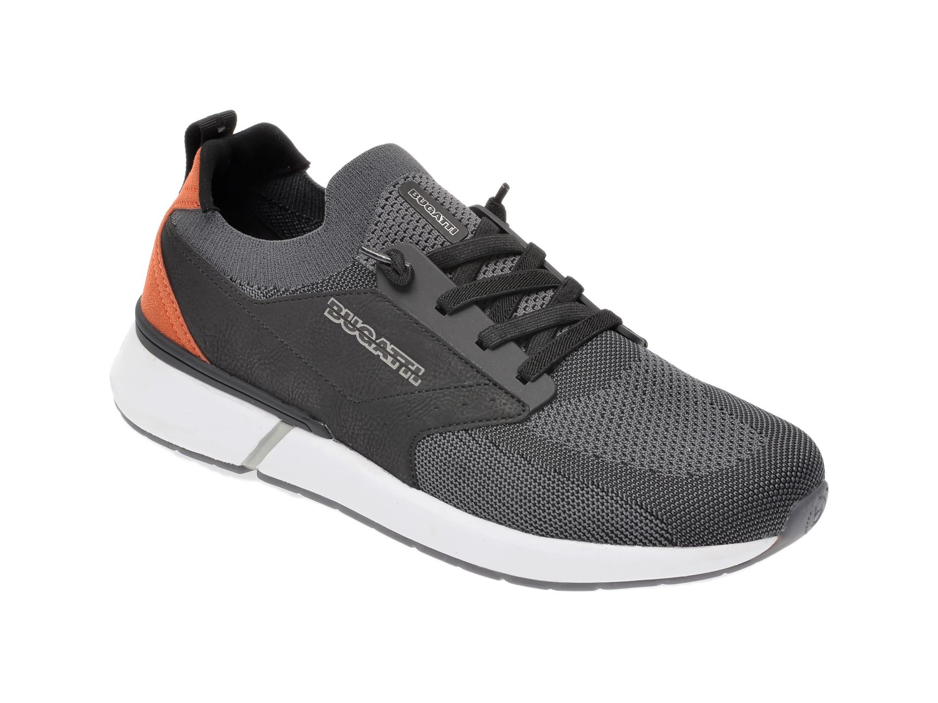 Pantofi sport BUGATTI gri, 92762, din material textil imagine