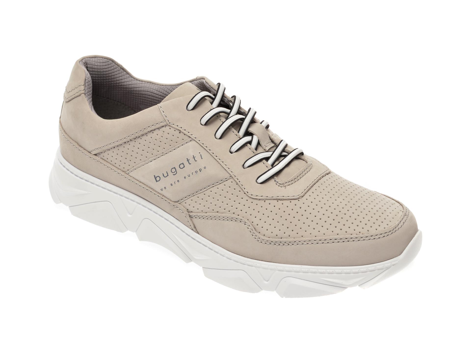 Pantofi sport BUGATTI gri, 93502, din nabuc imagine