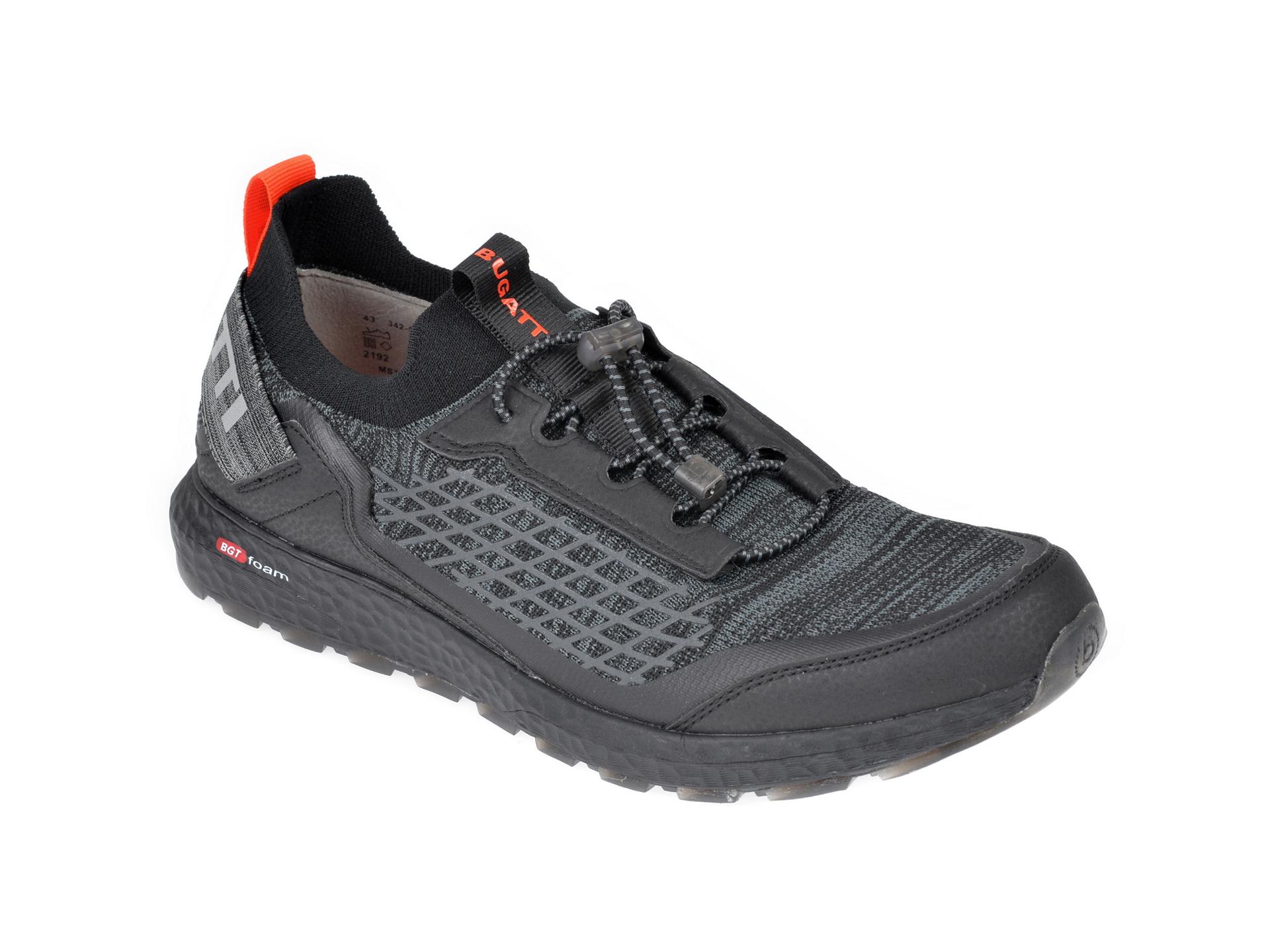 Pantofi sport BUGATTI negri, 58962, din material textil imagine