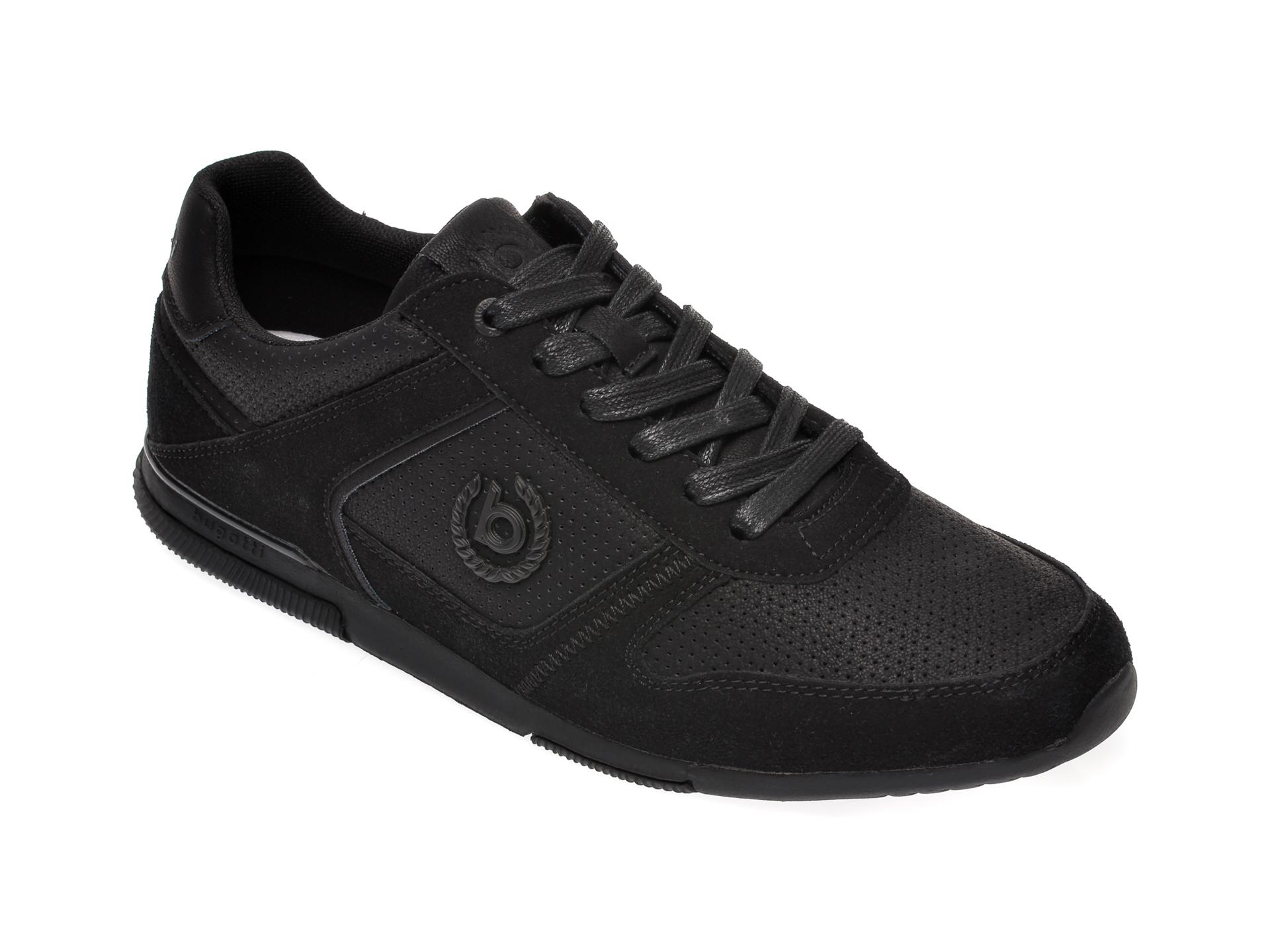 Pantofi sport BUGATTI negri, 73201, din piele ecologica imagine