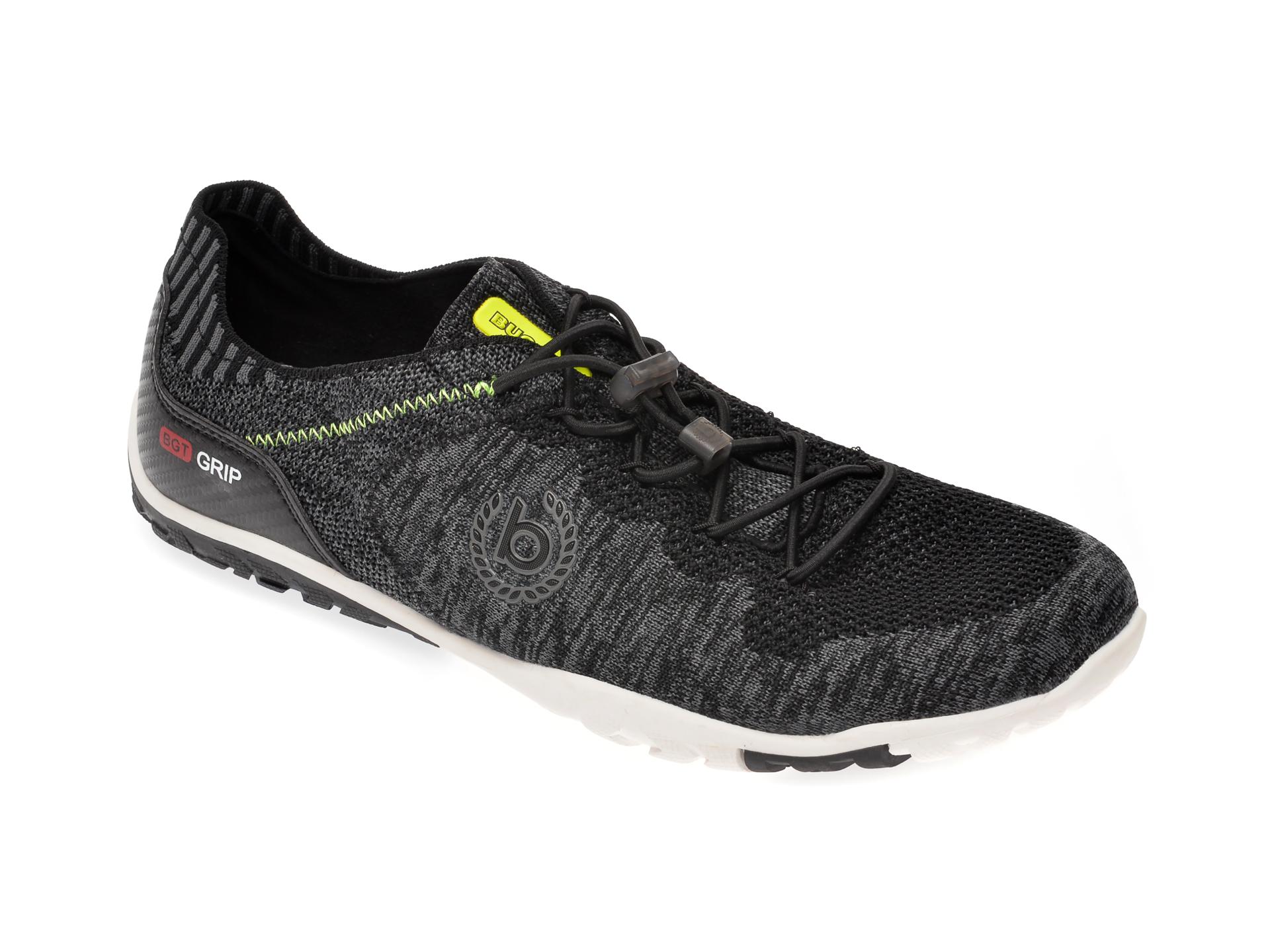 Pantofi sport BUGATTI negri, 91702, din material textil imagine