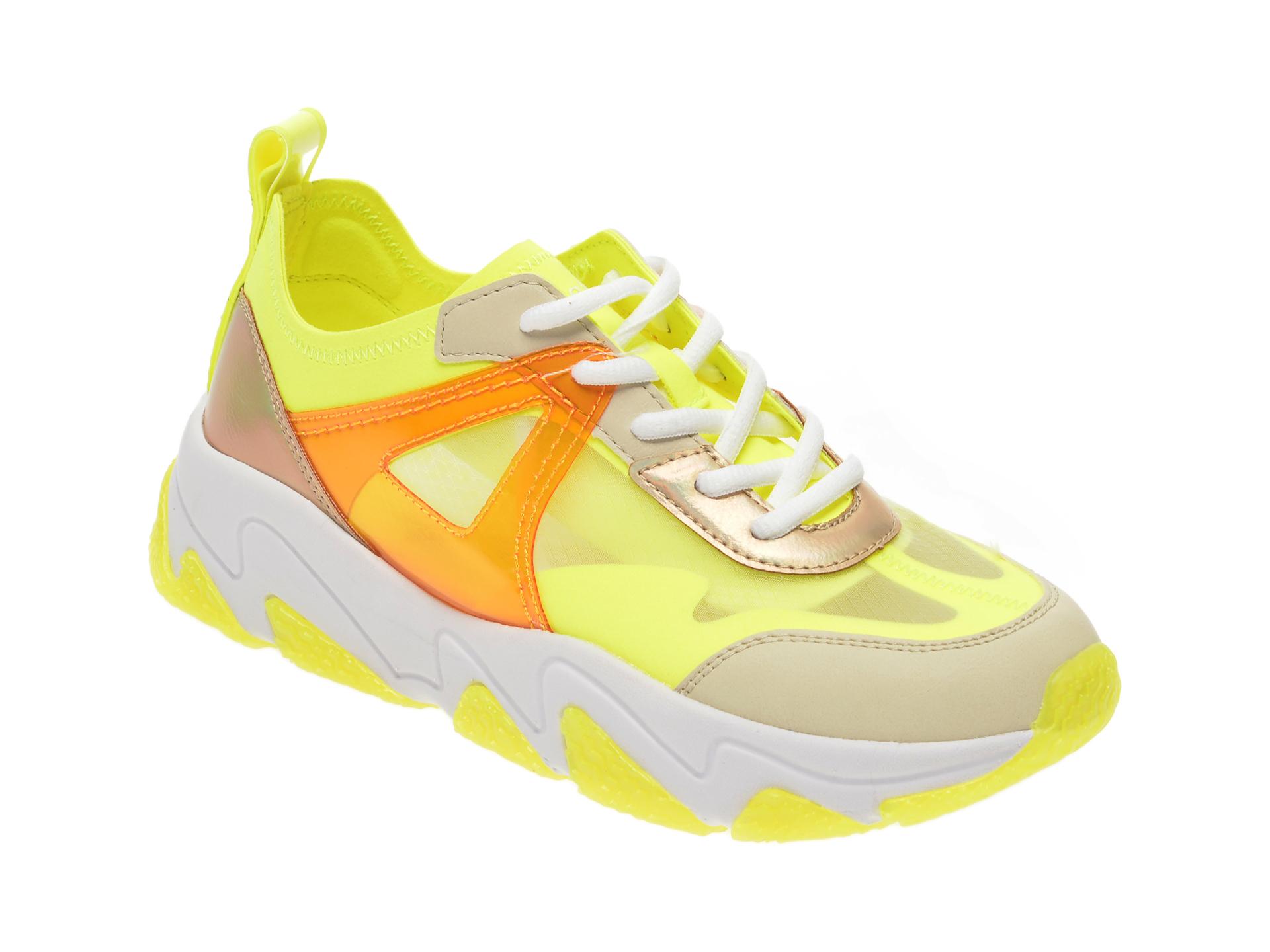 Pantofi sport BUGATTI verzi, 84603, din material textil si piele ecologica