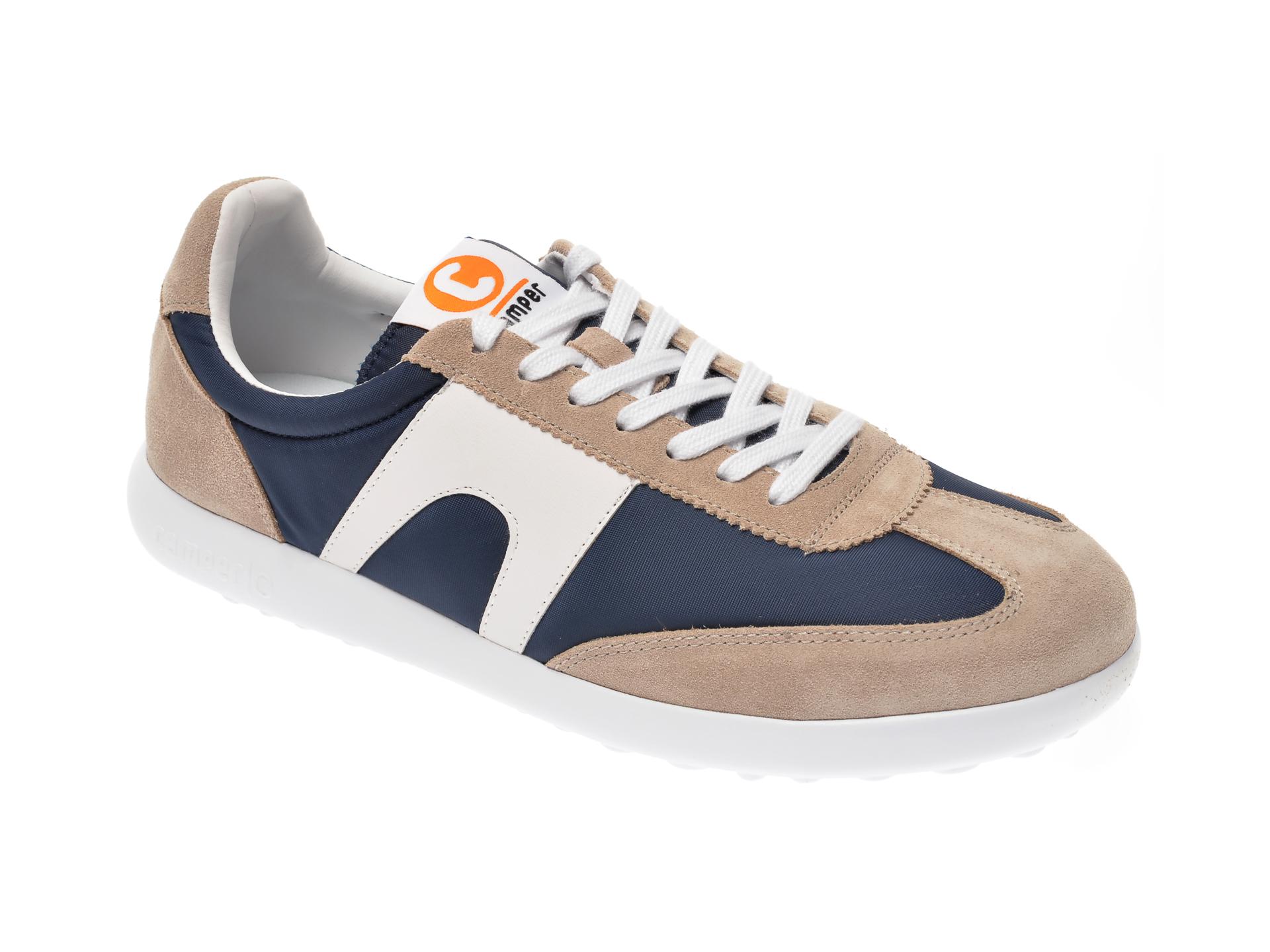 Pantofi sport CAMPER bleumarin K100545, din piele intoarsa si material textil imagine