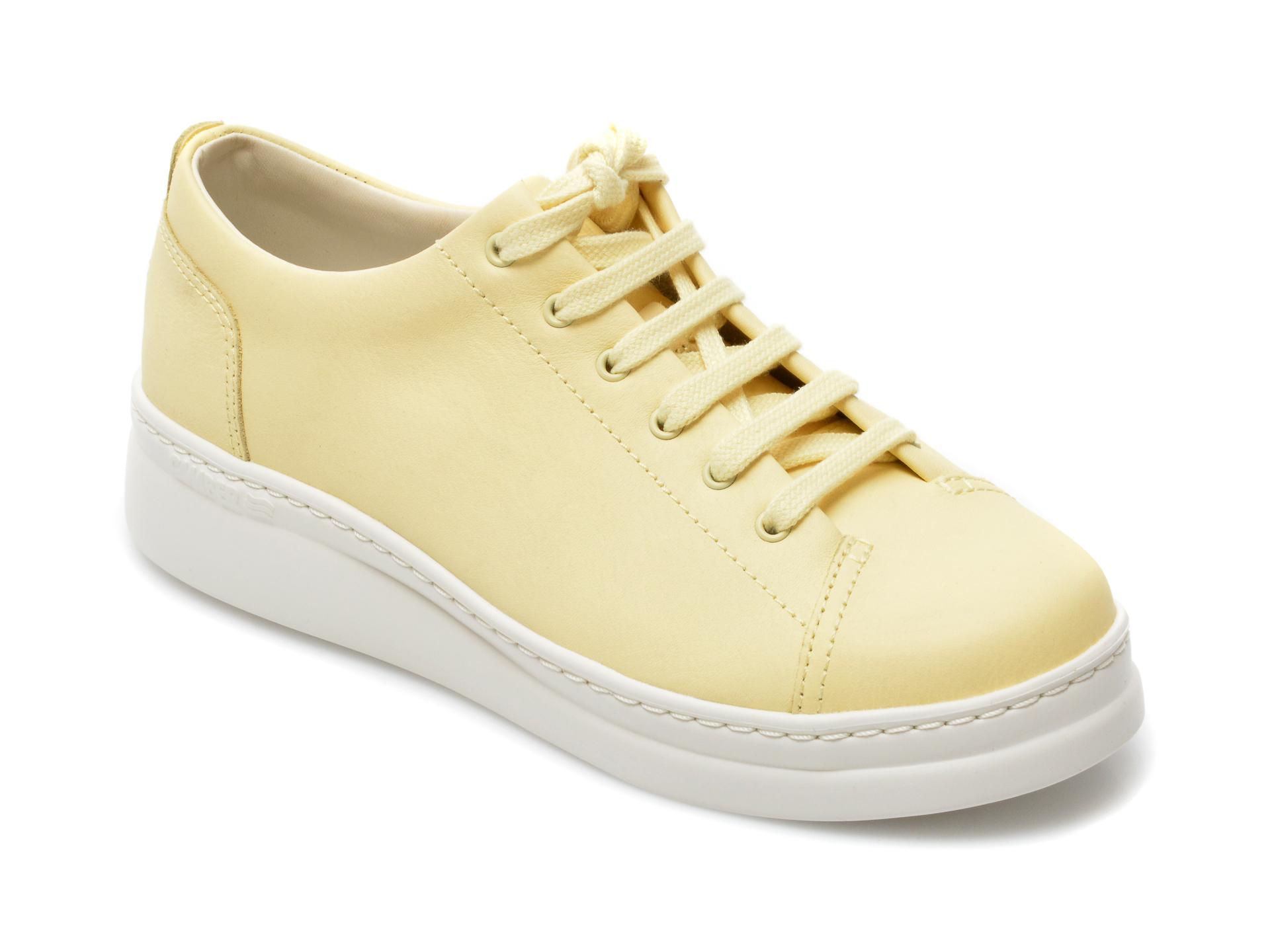 Pantofi sport CAMPER galbeni, K200508, din piele naturala imagine otter.ro 2021