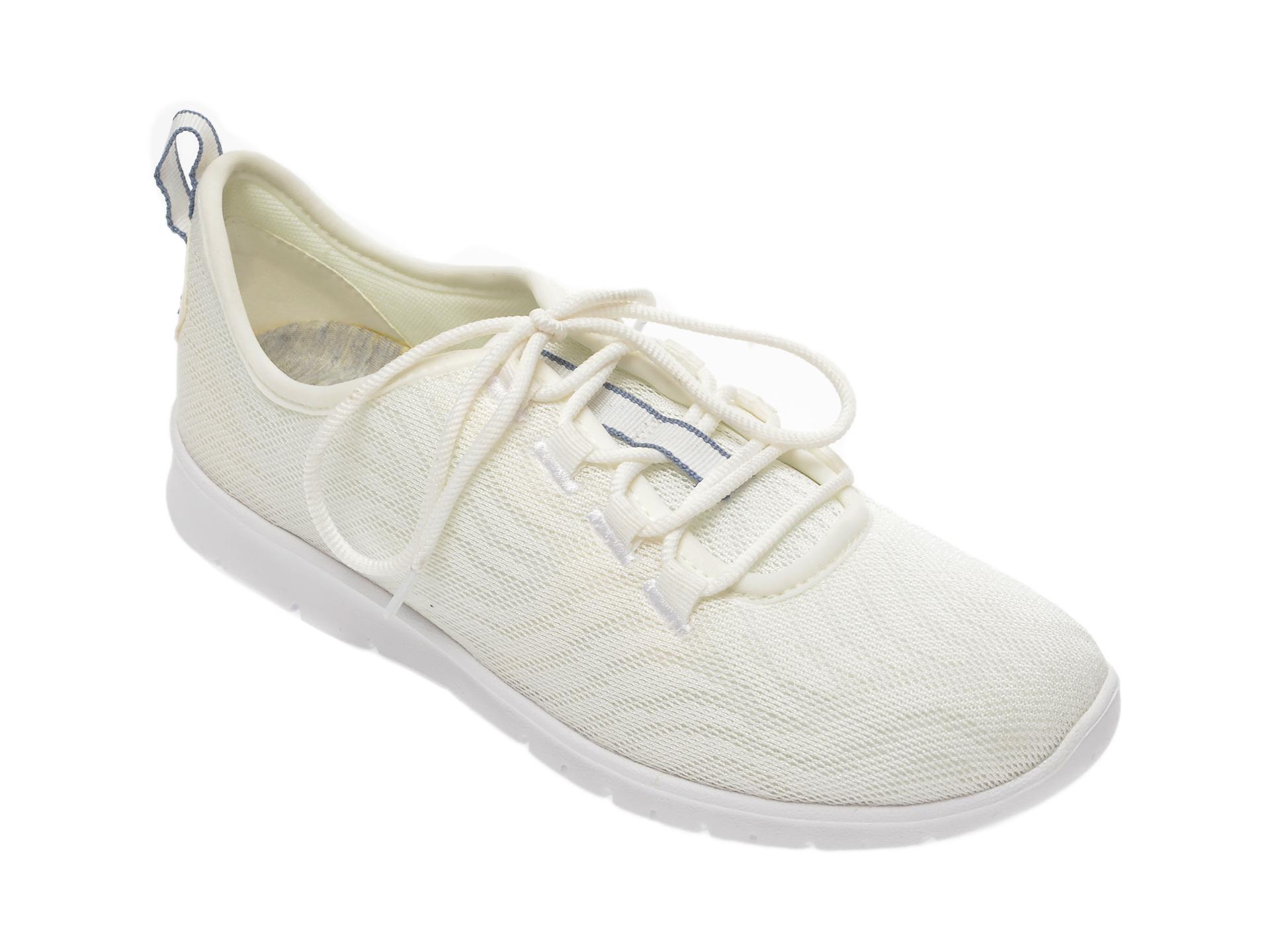 Pantofi sport CLARKS albi, Step Allena Go, din material textil imagine
