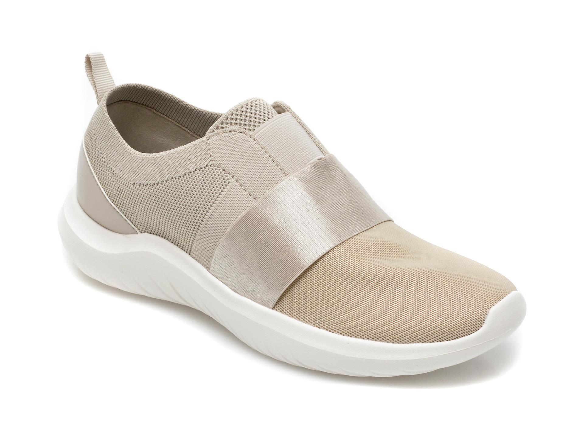 Pantofi sport CLARKS bej, Nova Lumis, din material textil imagine otter.ro 2021