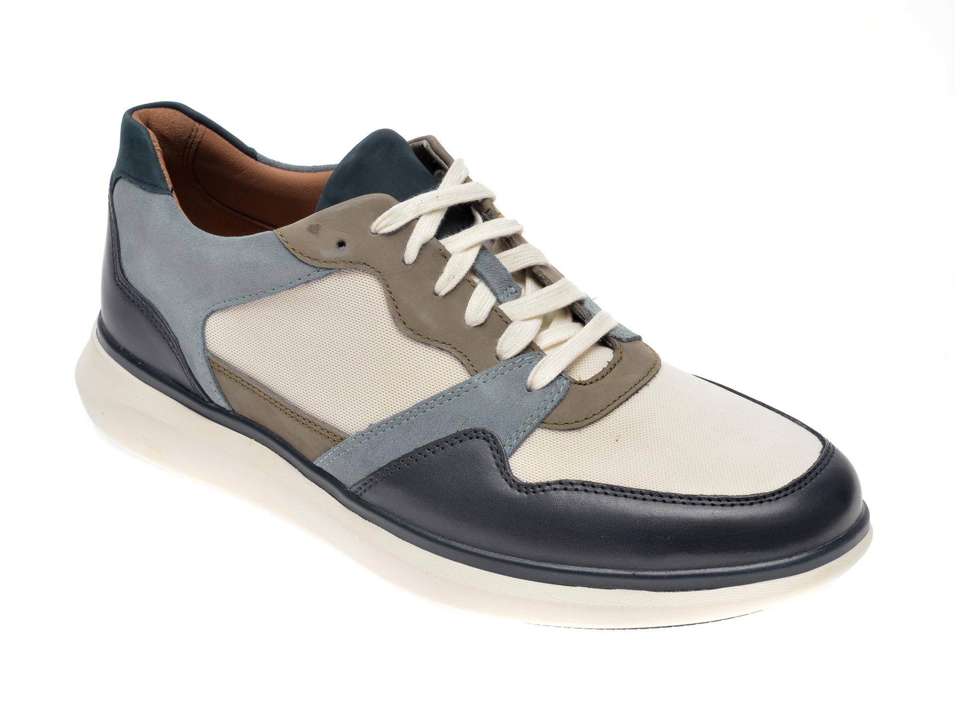 Pantofi sport CLARKS bleumarin, Un Globe Run, din material textil si piele naturala imagine