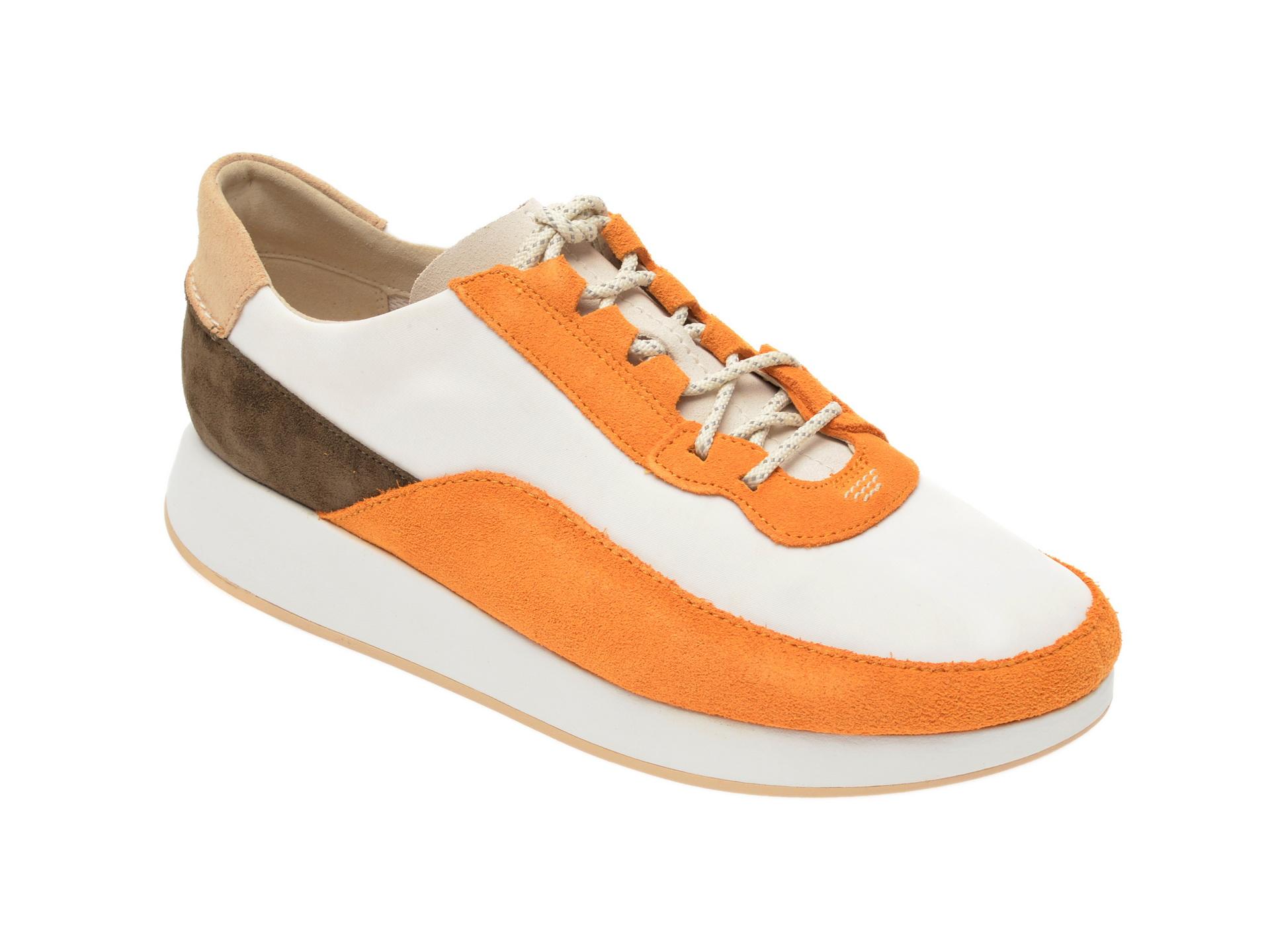Pantofi sport CLARKS multicolor, Kiowa Pace, din material textil si piele intoarsa imagine
