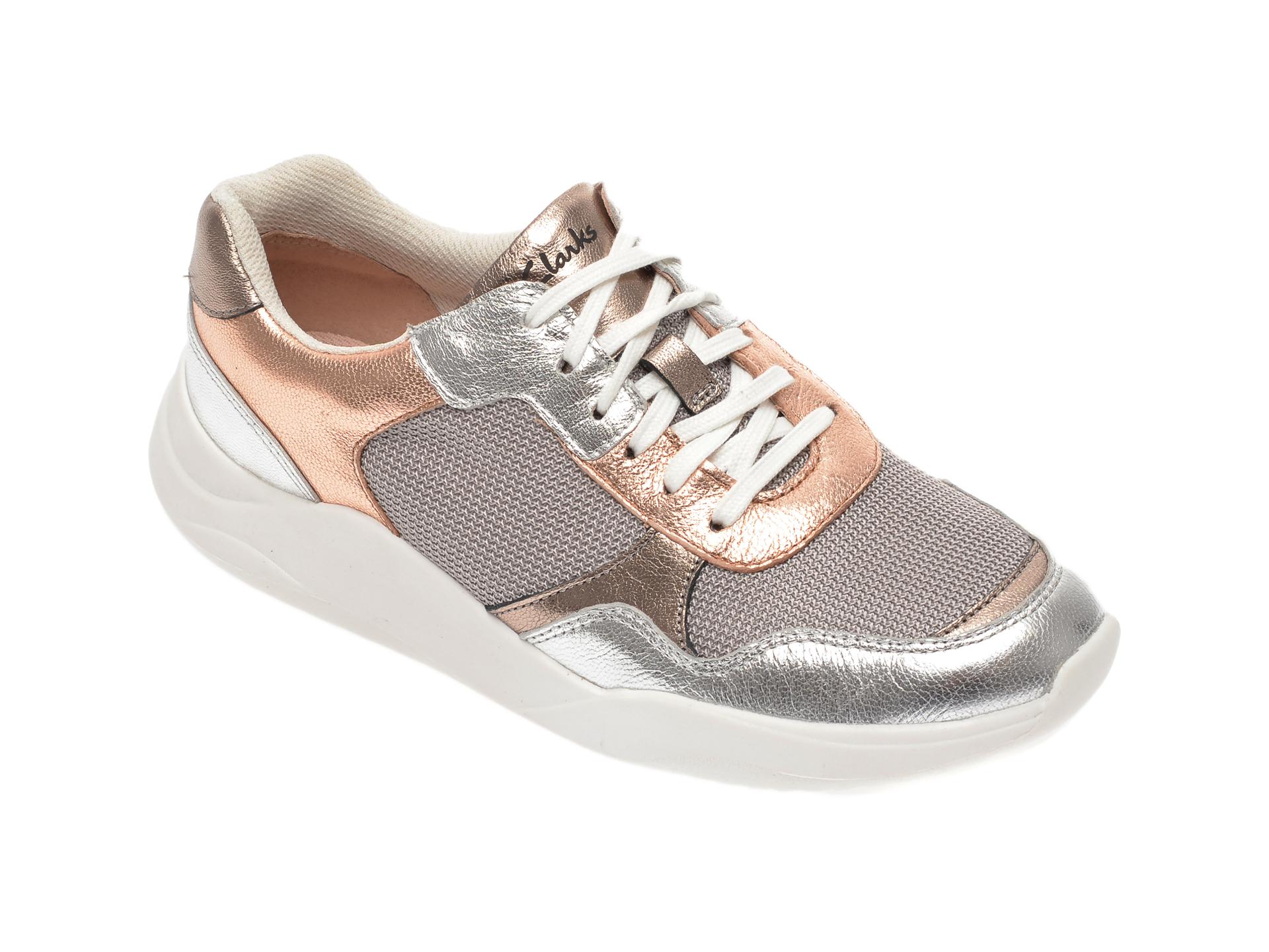 Pantofi sport CLARKS multicolor, Sift Lace, din piele naturala si material textil