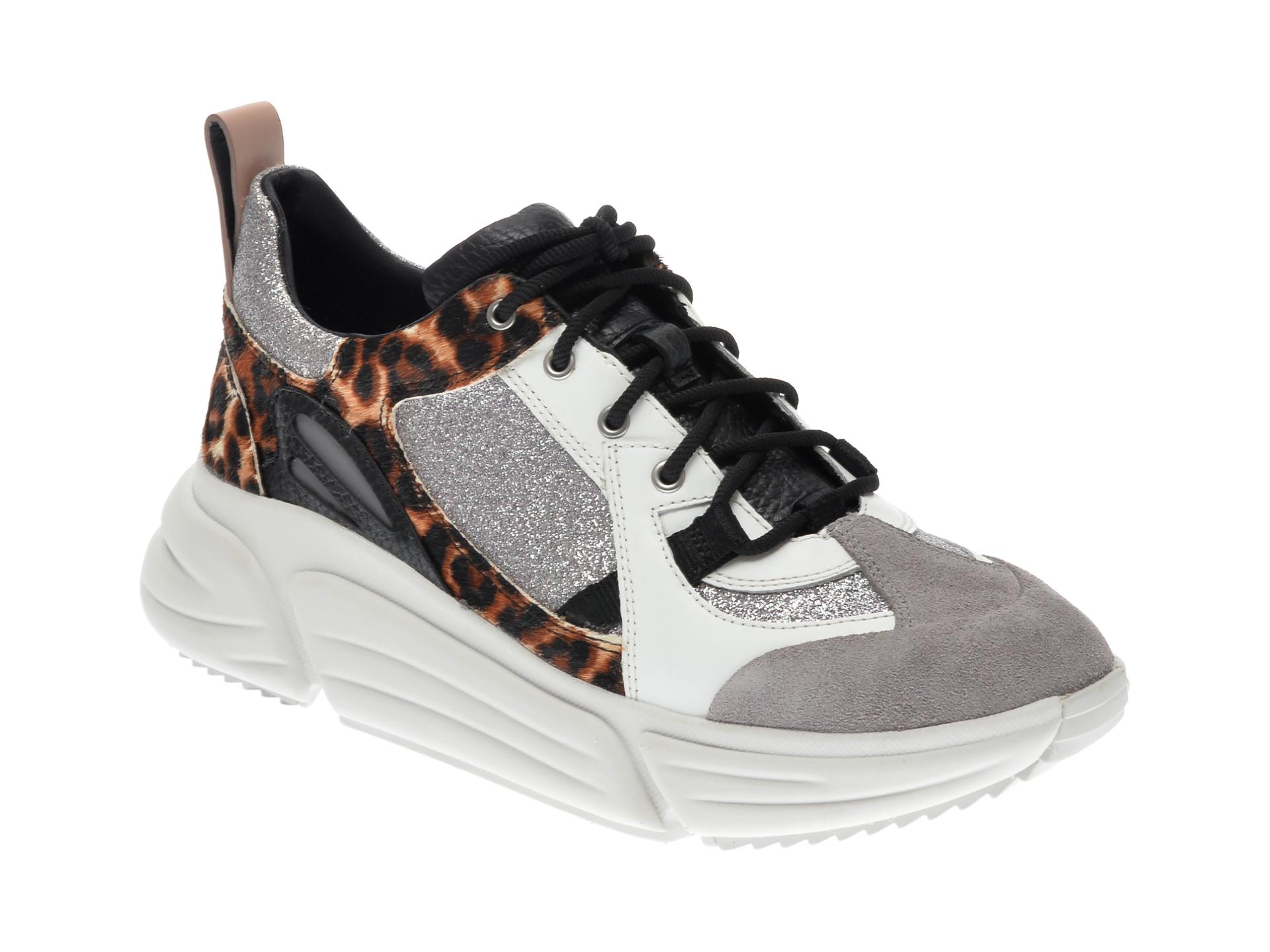 Pantofi sport CLARKS multicolori, TRI COMET LACE, din piele naturala imagine