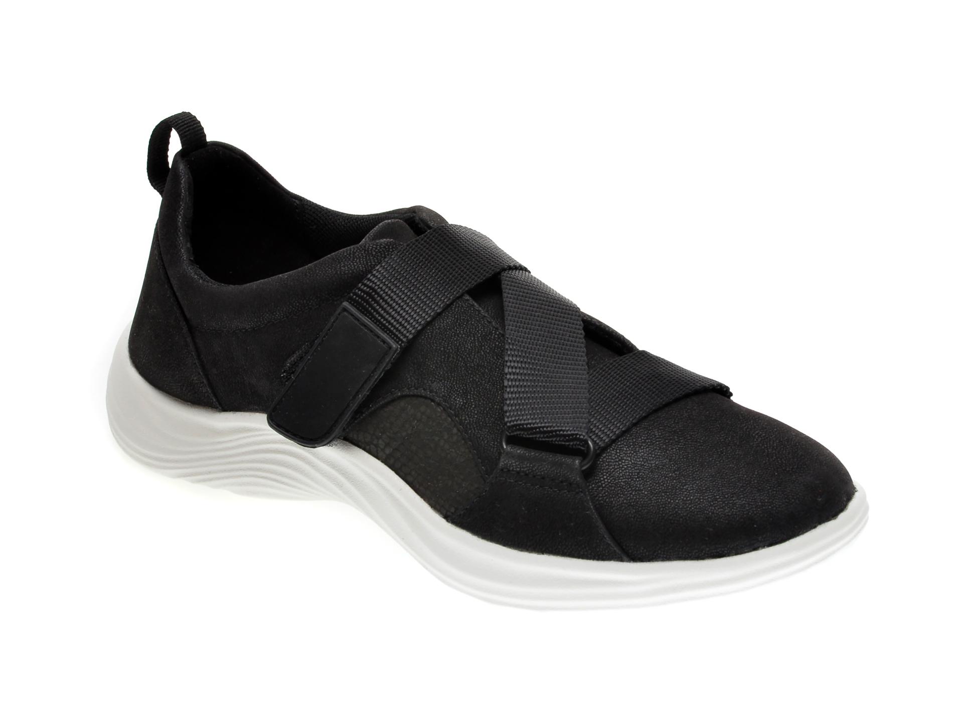 Pantofi sport CLARKS negri, LULU GO, din material textil imagine