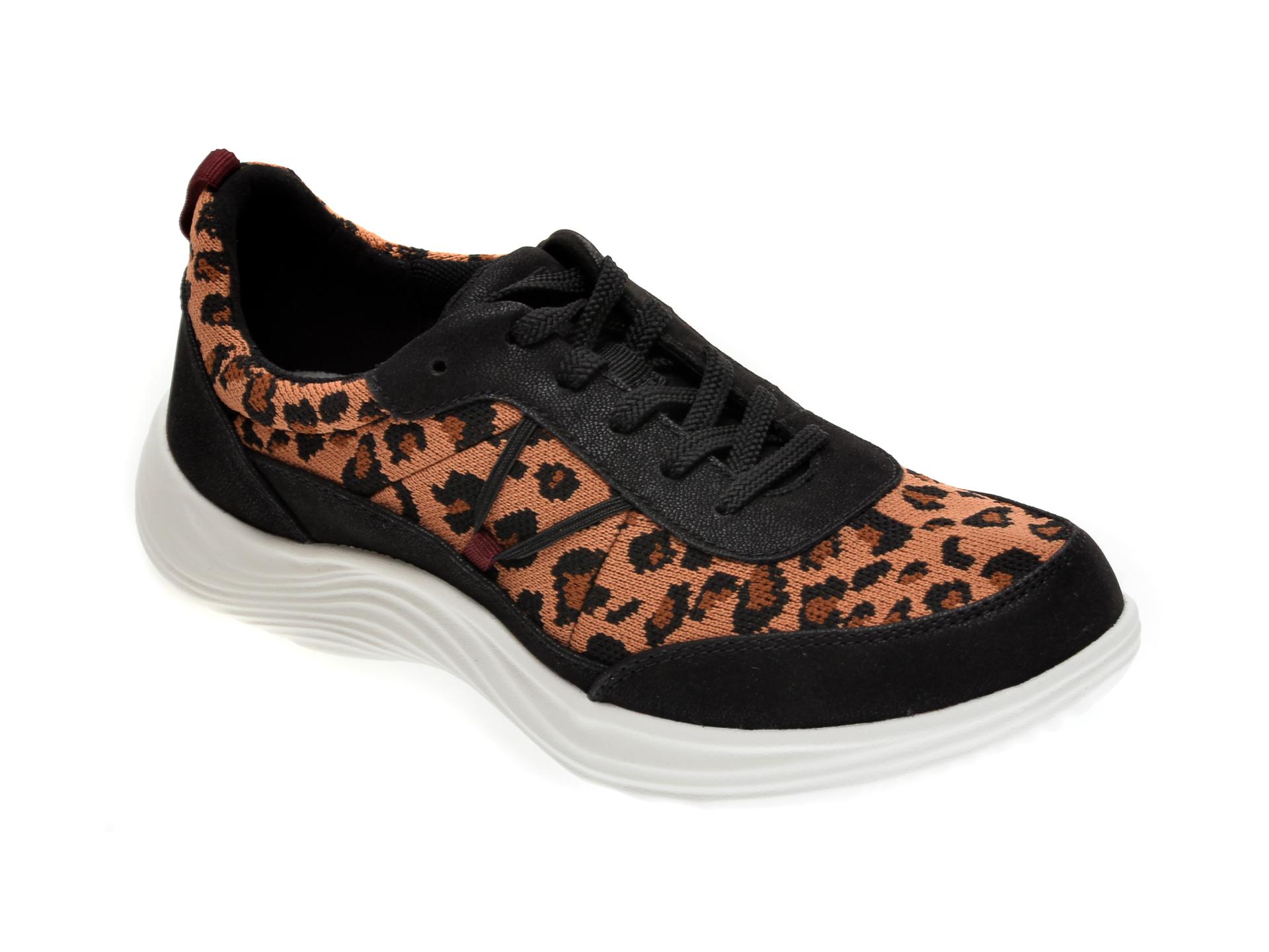 Pantofi sport CLARKS negri, LULU WALK, din material textil imagine