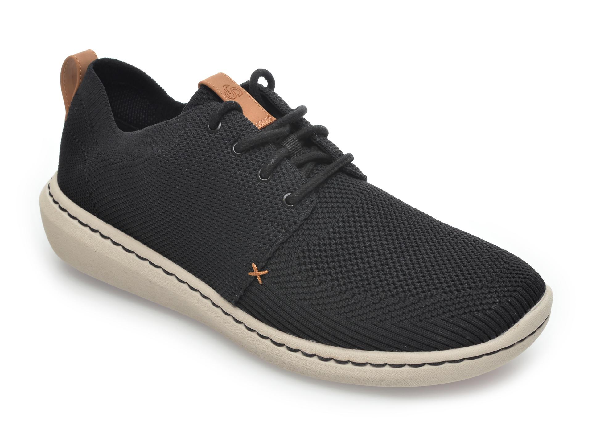 Pantofi sport CLARKS negri, Step Urban Mix, din material textil imagine