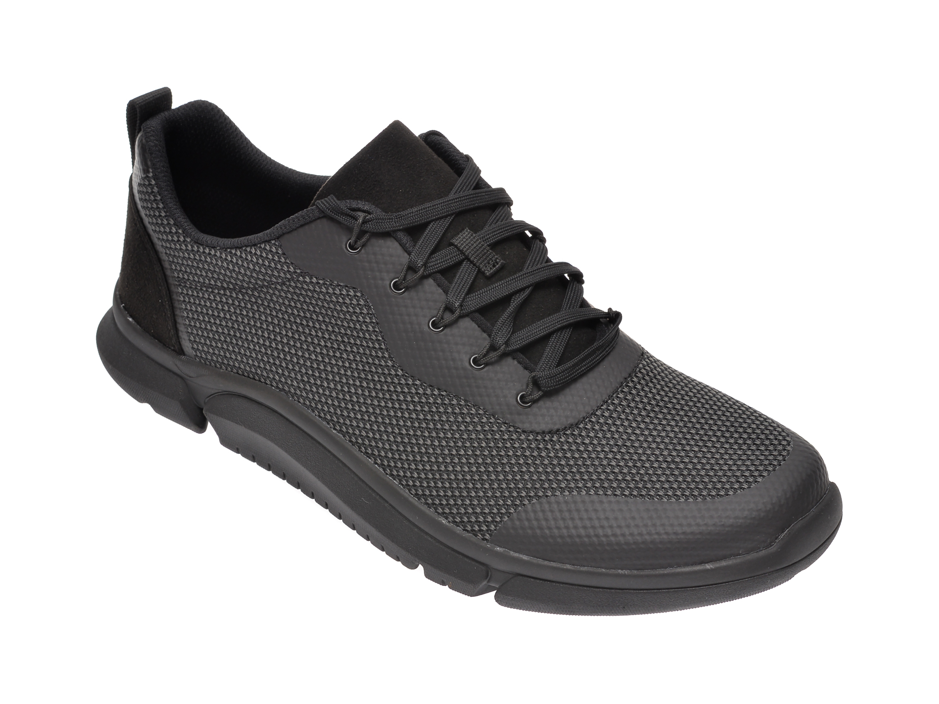 Pantofi sport CLARKS negri, Triken Jump, din material textil imagine