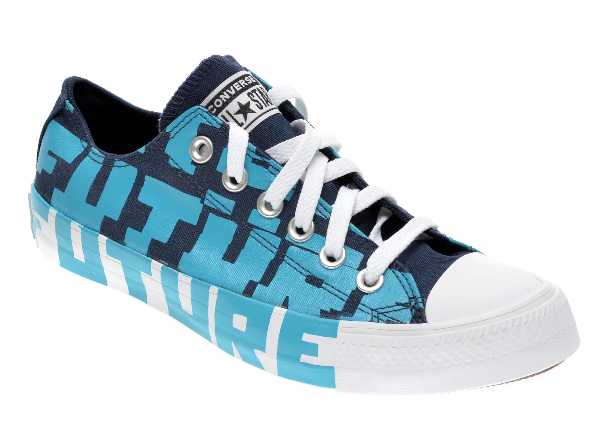 Pantofi sport CONVERSE albastri, 168557C, din material textil