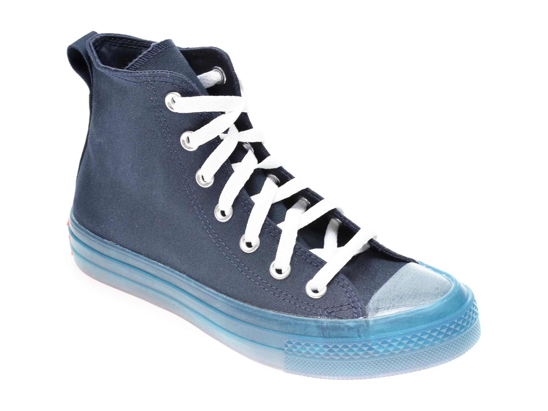 Pantofi sport CONVERSE bleumarin, 168566C, din material textil New