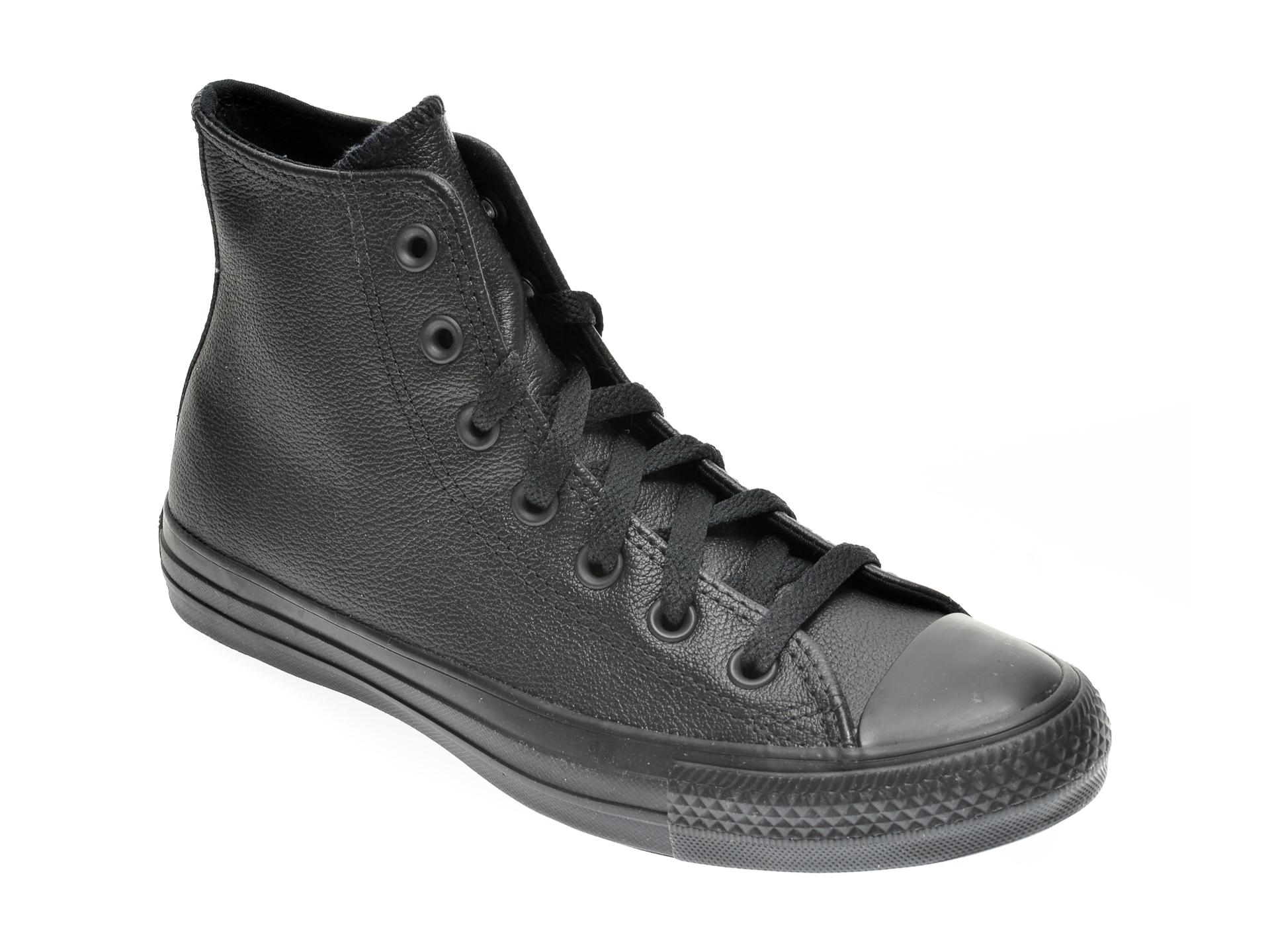 Pantofi sport CONVERSE negre, 135251C, din piele naturala