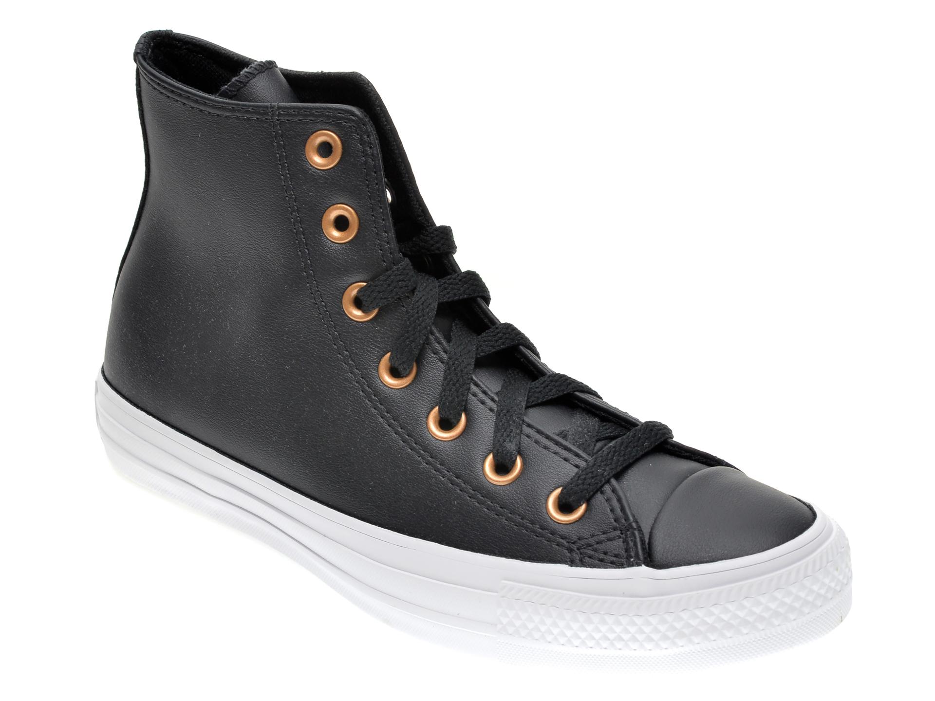 Pantofi sport CONVERSE negre, 568659C, din piele ecologica New