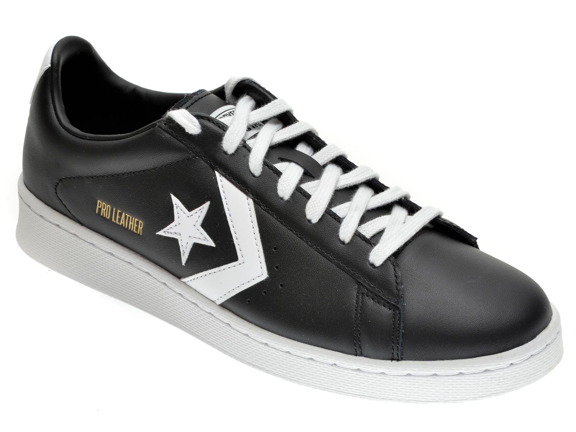 Pantofi sport CONVERSE negri, 167238C, din piele ecologica
