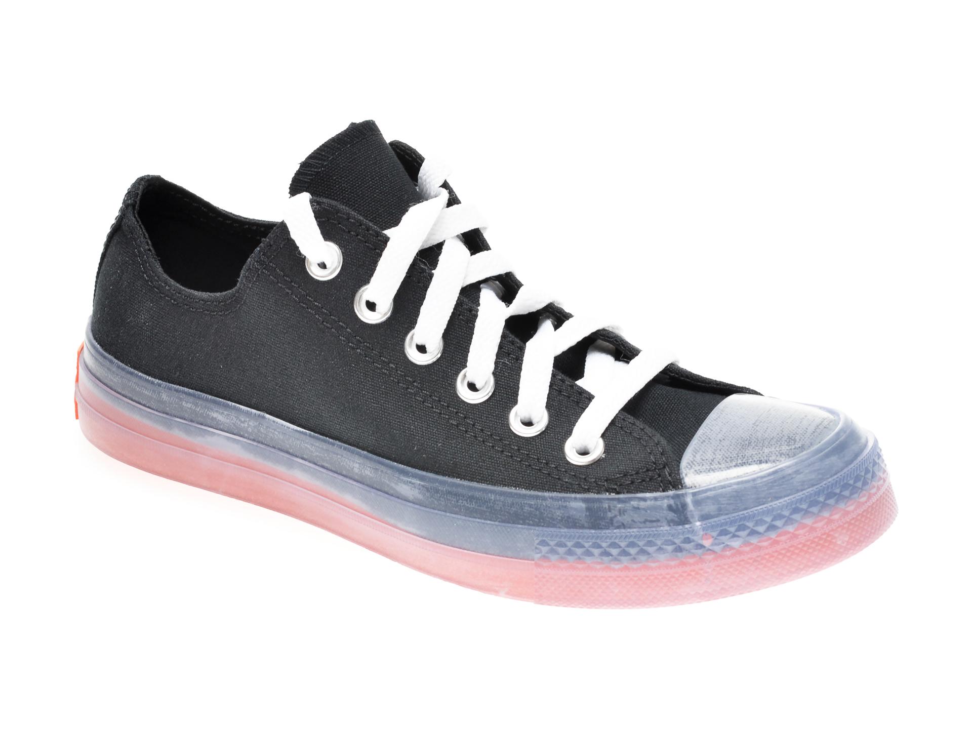 Pantofi sport CONVERSE negri, 168568C, din material textil