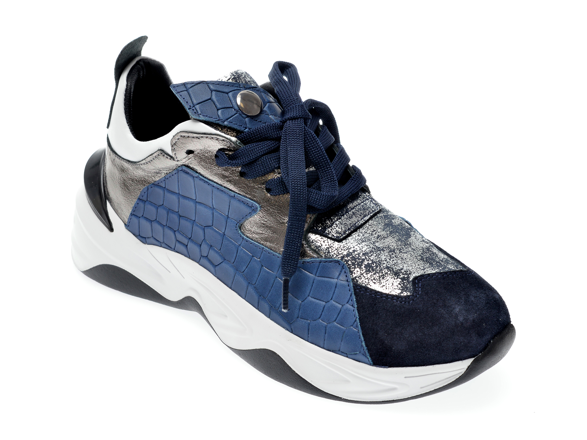 Pantofi Sport Epica Albastri, 135p158, Din Piele Naturala