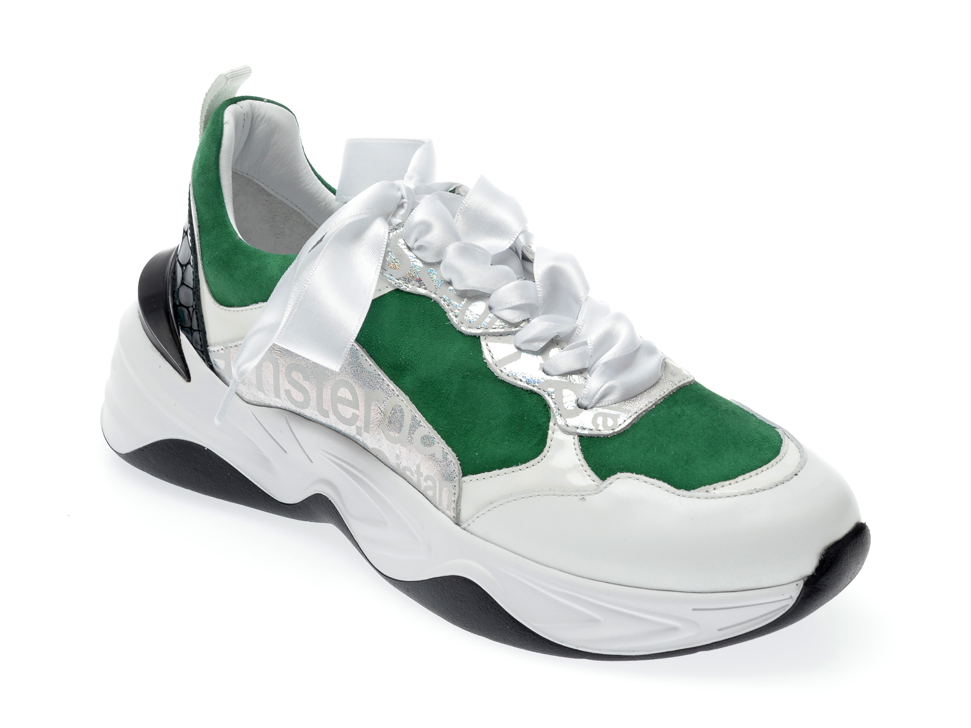 Pantofi sport EPICA albi, 135P205, din piele naturala New