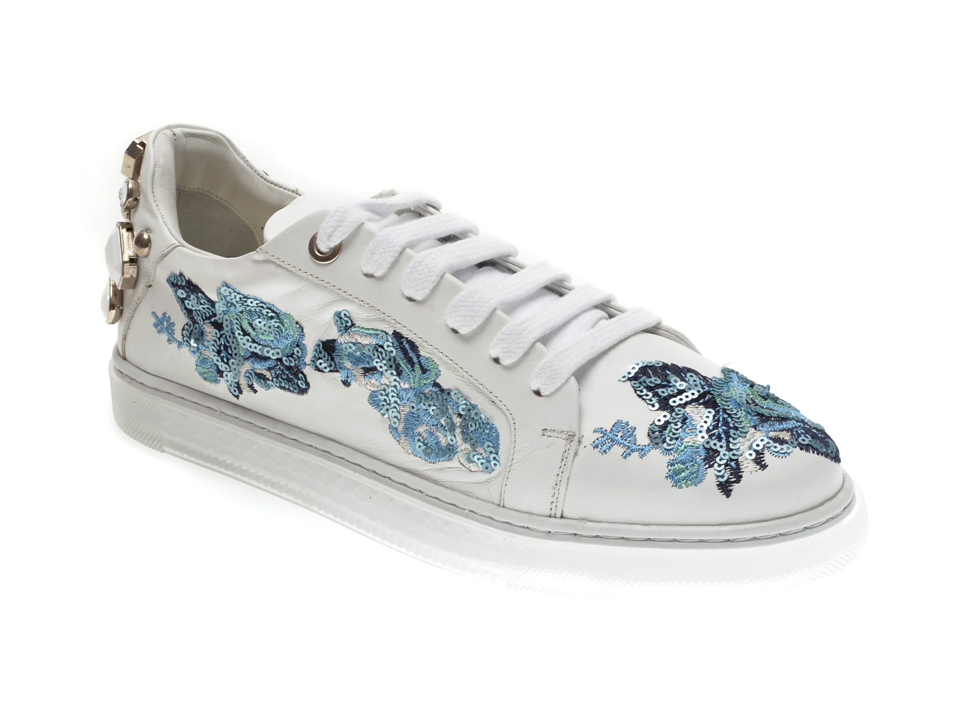 Pantofi sport EPICA albi, 2021460, din piele naturala imagine