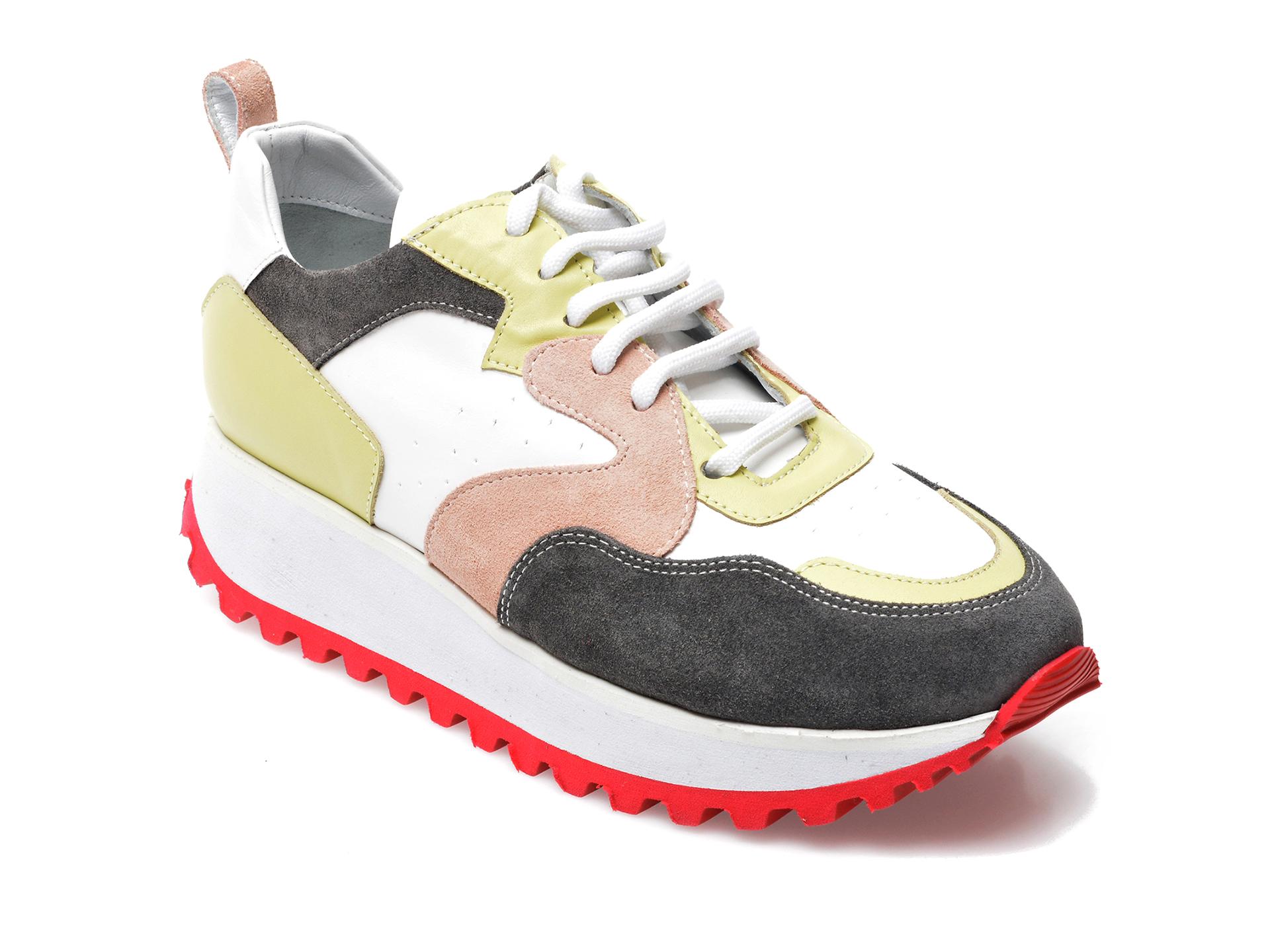 Pantofi sport EPICA albi, 208K205, din piele naturala imagine otter.ro 2021