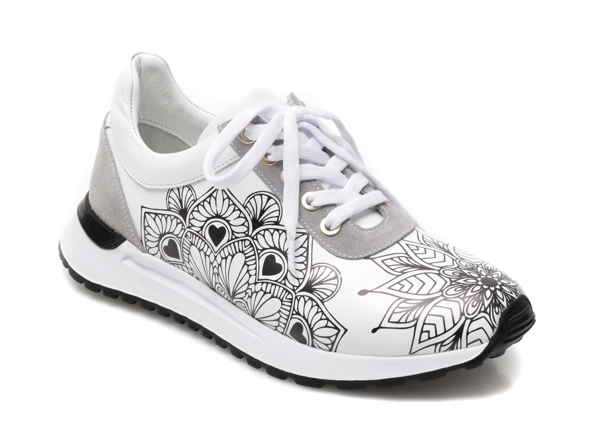 Pantofi sport EPICA albi, 3287547, din piele naturala imagine otter.ro 2021