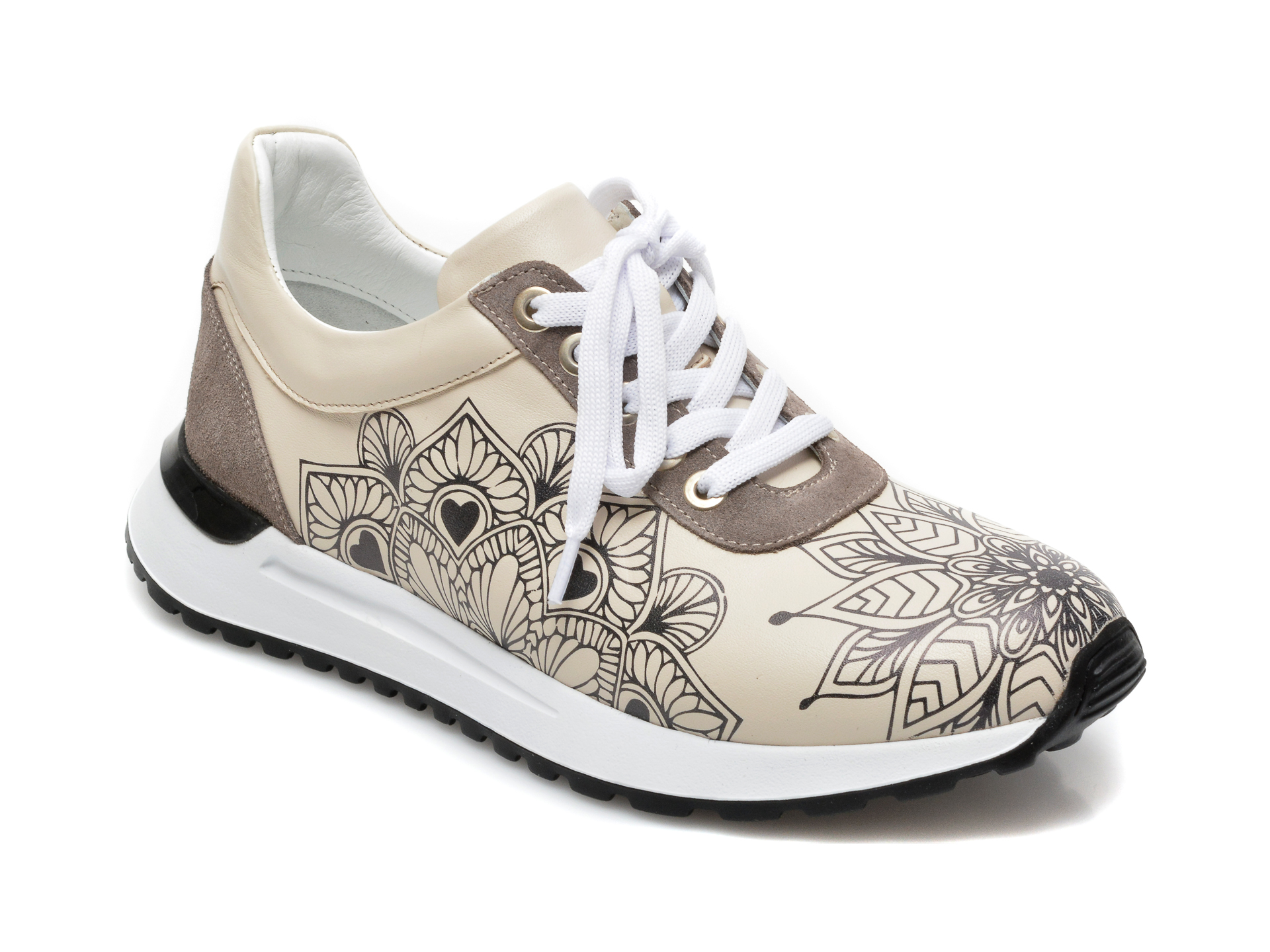 Pantofi sport EPICA bej, 3287547, din piele naturala imagine otter.ro 2021