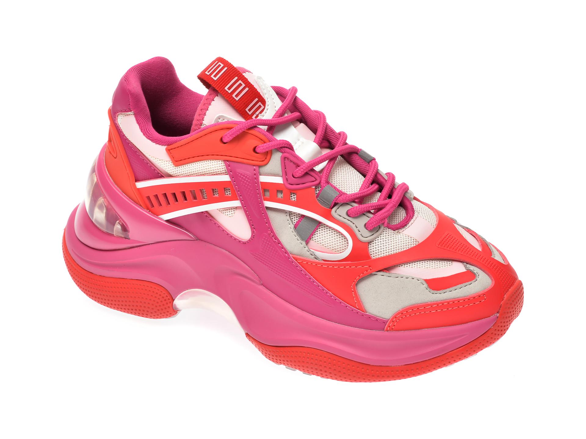 Pantofi Sport Epica Fucsia, 99998, Din Material Textil Si Piele Ecologica