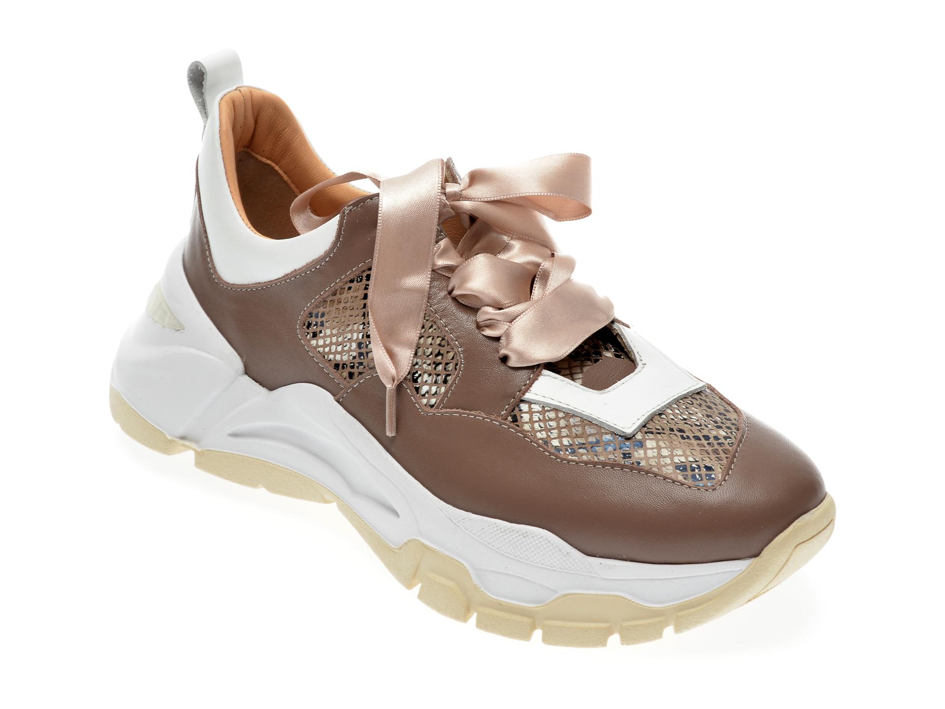 Pantofi sport EPICA maro, 135P240, din piele naturala imagine 2021 Epica
