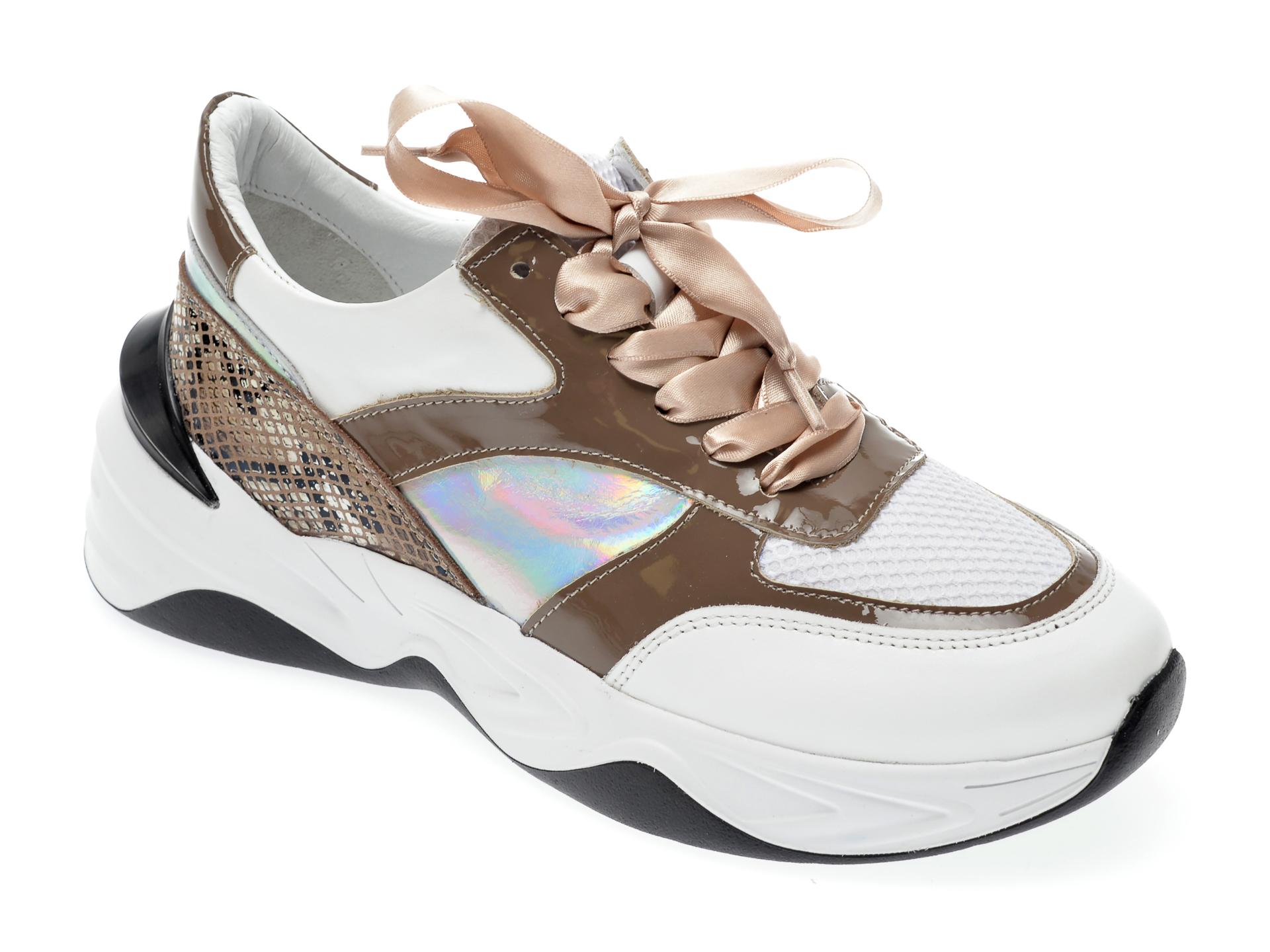 Pantofi Sport Epica Maro, 135p249, Din Piele Naturala Si Material Textil