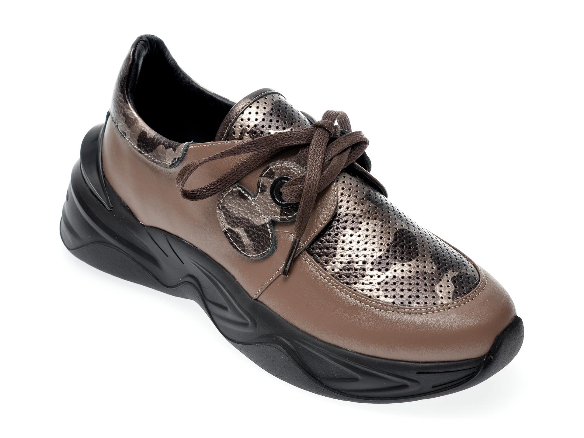 Pantofi sport EPICA maro, 135P256, din piele naturala imagine otter.ro