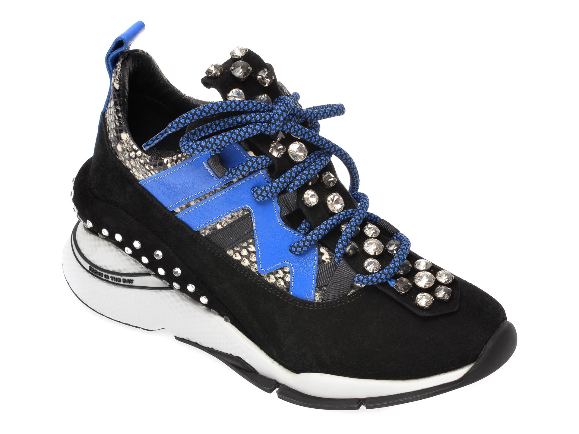Pantofi sport EPICA negri, 3133GE, din piele intoarsa