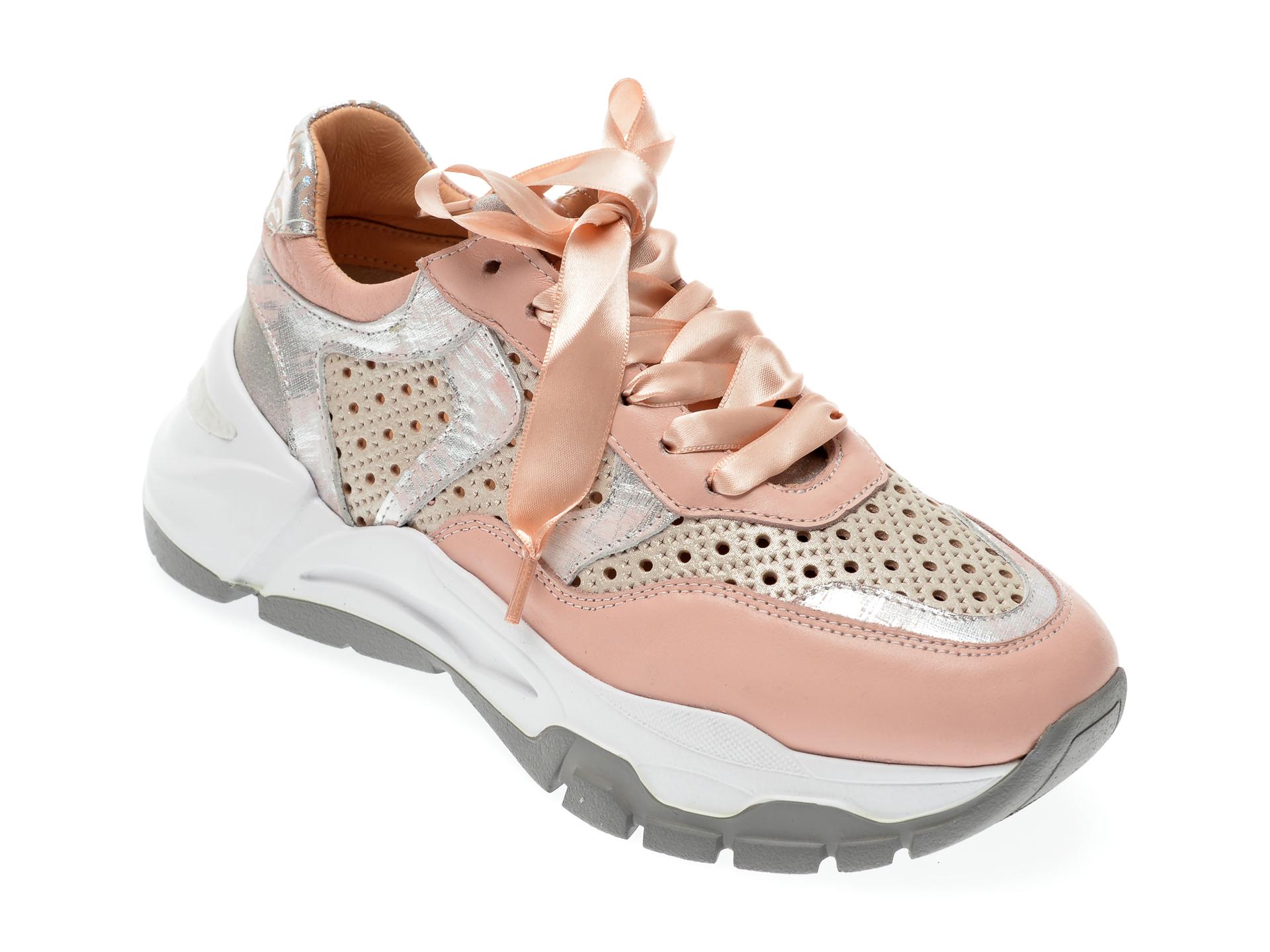 Pantofi sport EPICA roz, 135P245, din piele naturala imagine 2021 Epica