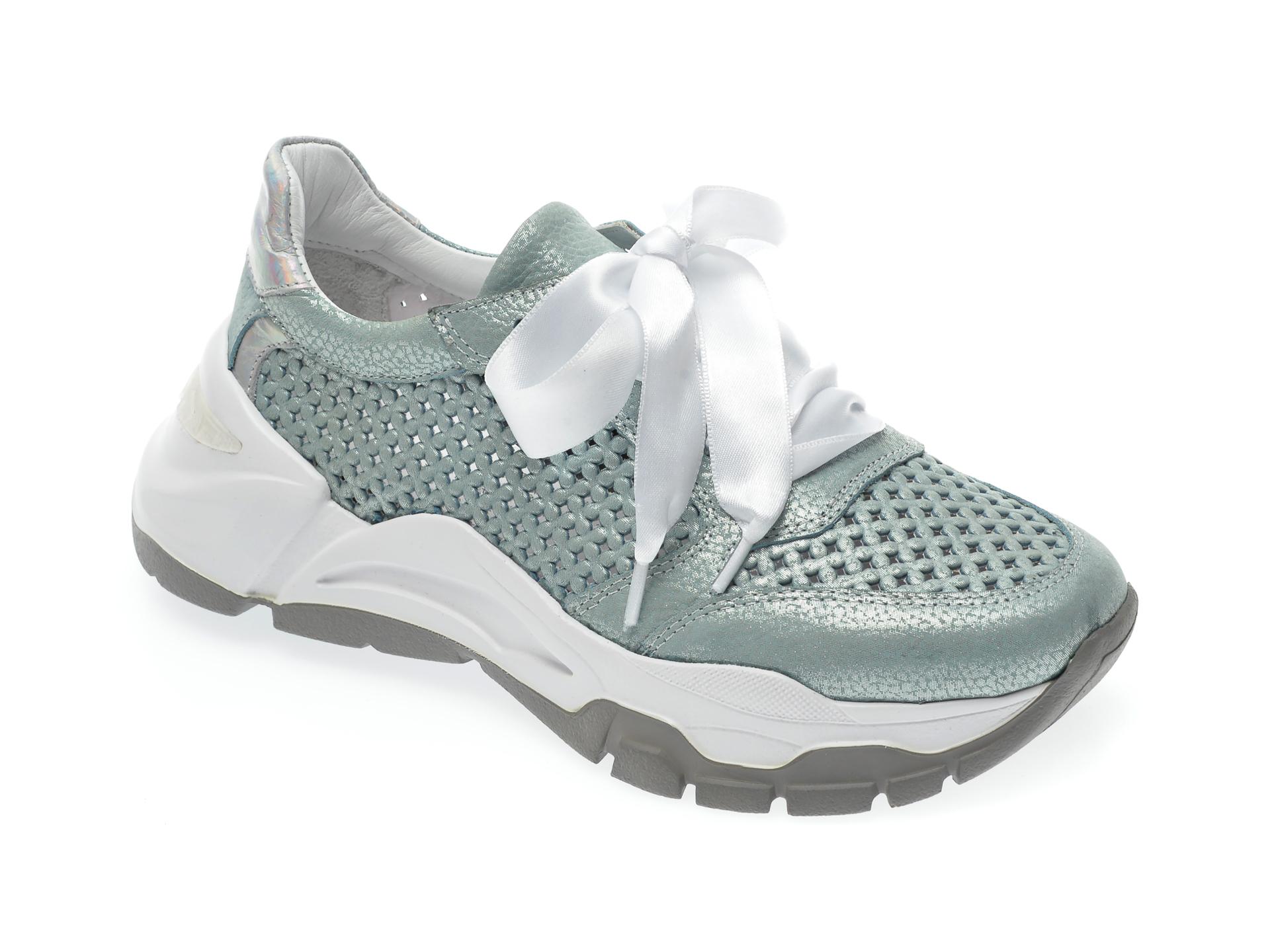 Pantofi sport EPICA verzi, 135P214, din piele naturala New