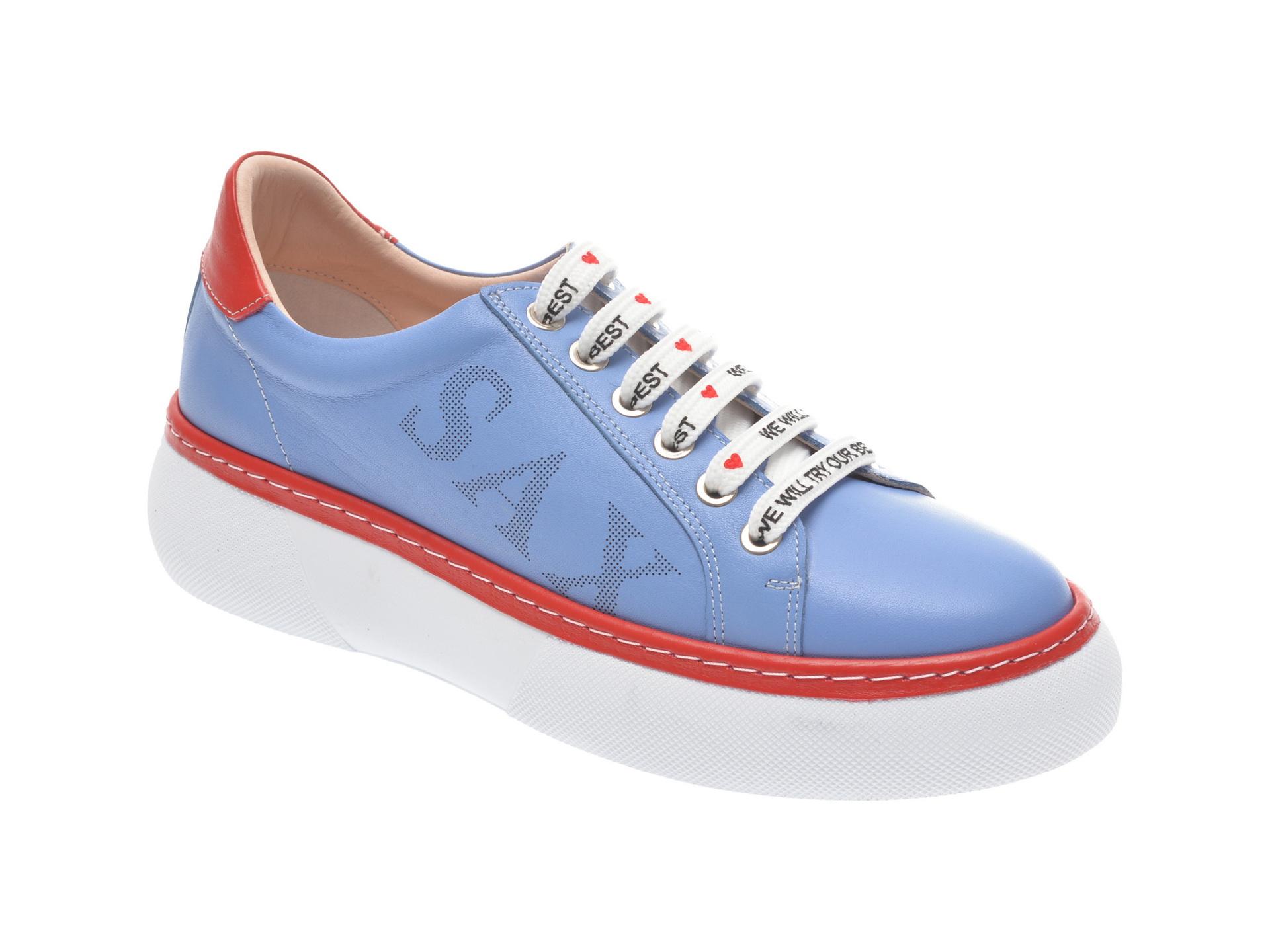 Pantofi sport FLAVIA PASSINI albastri, 826409, din piele naturala imagine