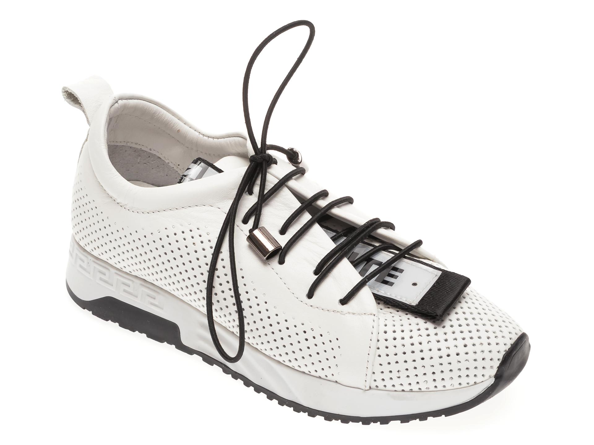 Pantofi sport FLAVIA PASSINI albi, 022605, din piele naturala