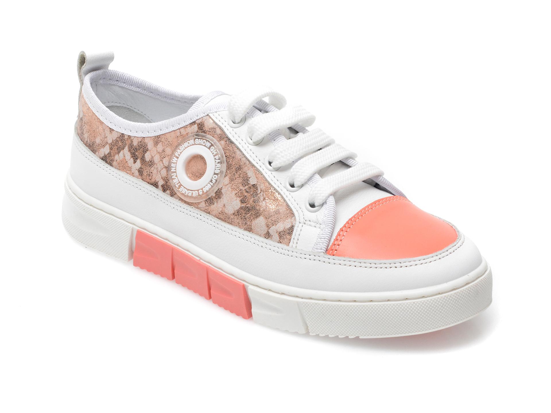 Pantofi sport FLAVIA PASSINI albi, 054WOME, din piele naturala imagine otter.ro 2021