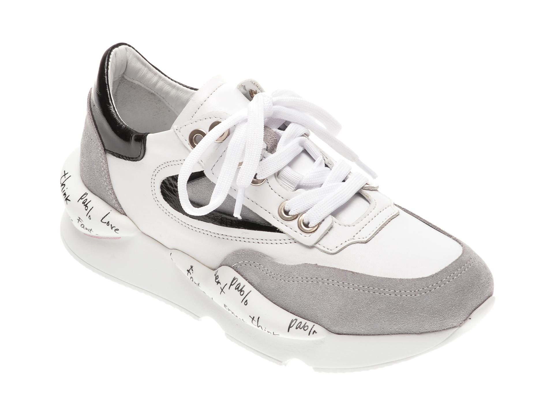 Pantofi sport FLAVIA PASSINI albi, 135P03, din piele naturala imagine