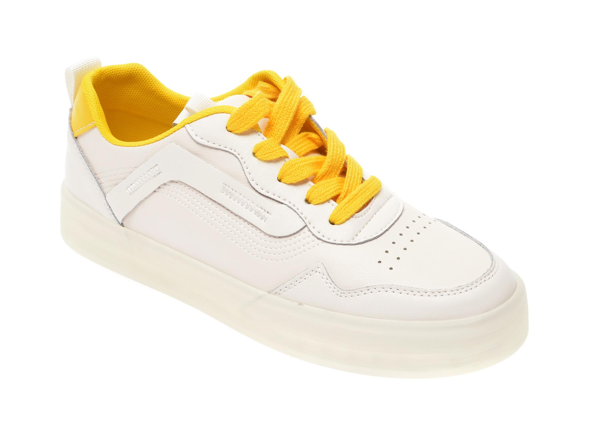Pantofi sport FLAVIA PASSINI albi, 20212, din piele naturala