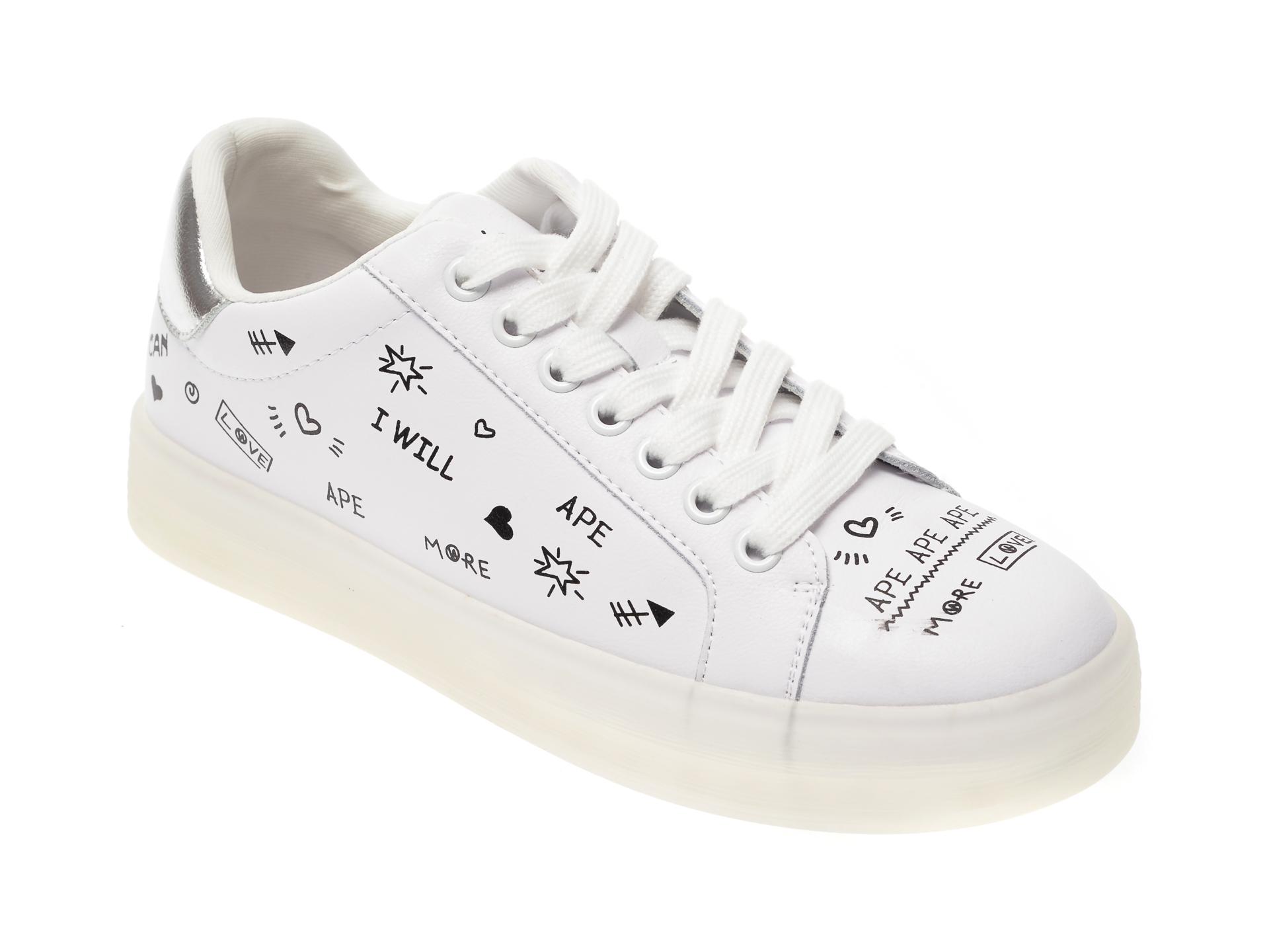 Pantofi sport FLAVIA PASSINI albi, 2027, din piele naturala imagine