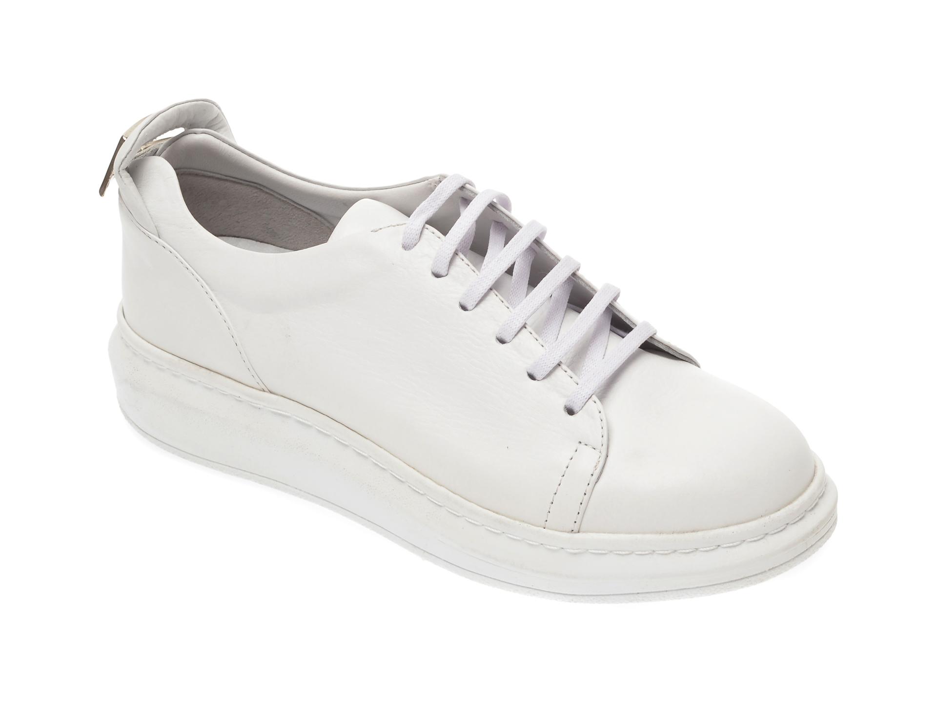 Pantofi sport FLAVIA PASSINI albi, 2303, din piele naturala New